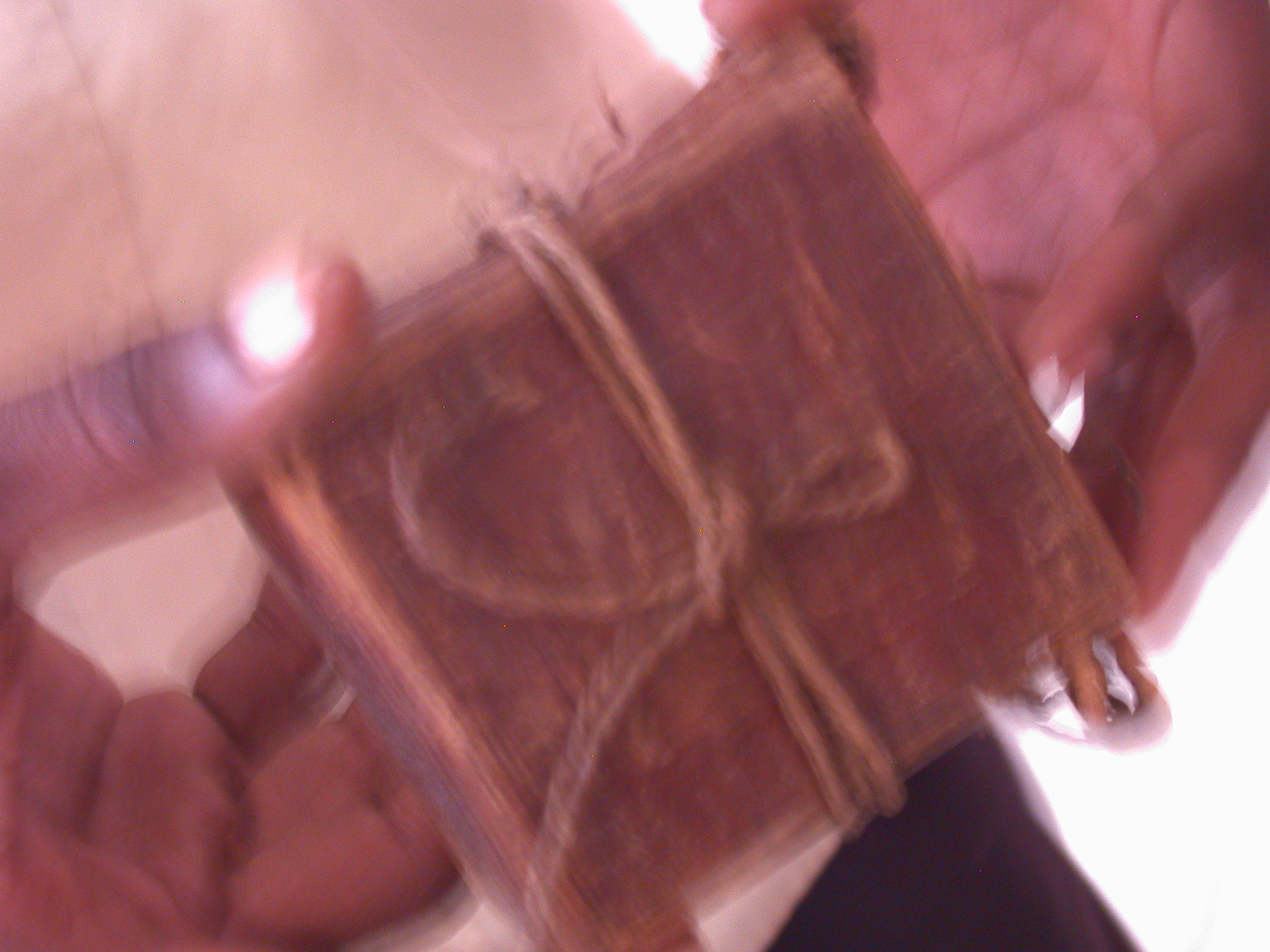 Old Small Manuscript Tied in Leather Case, Manuscript Library, Timbuktu, Mali