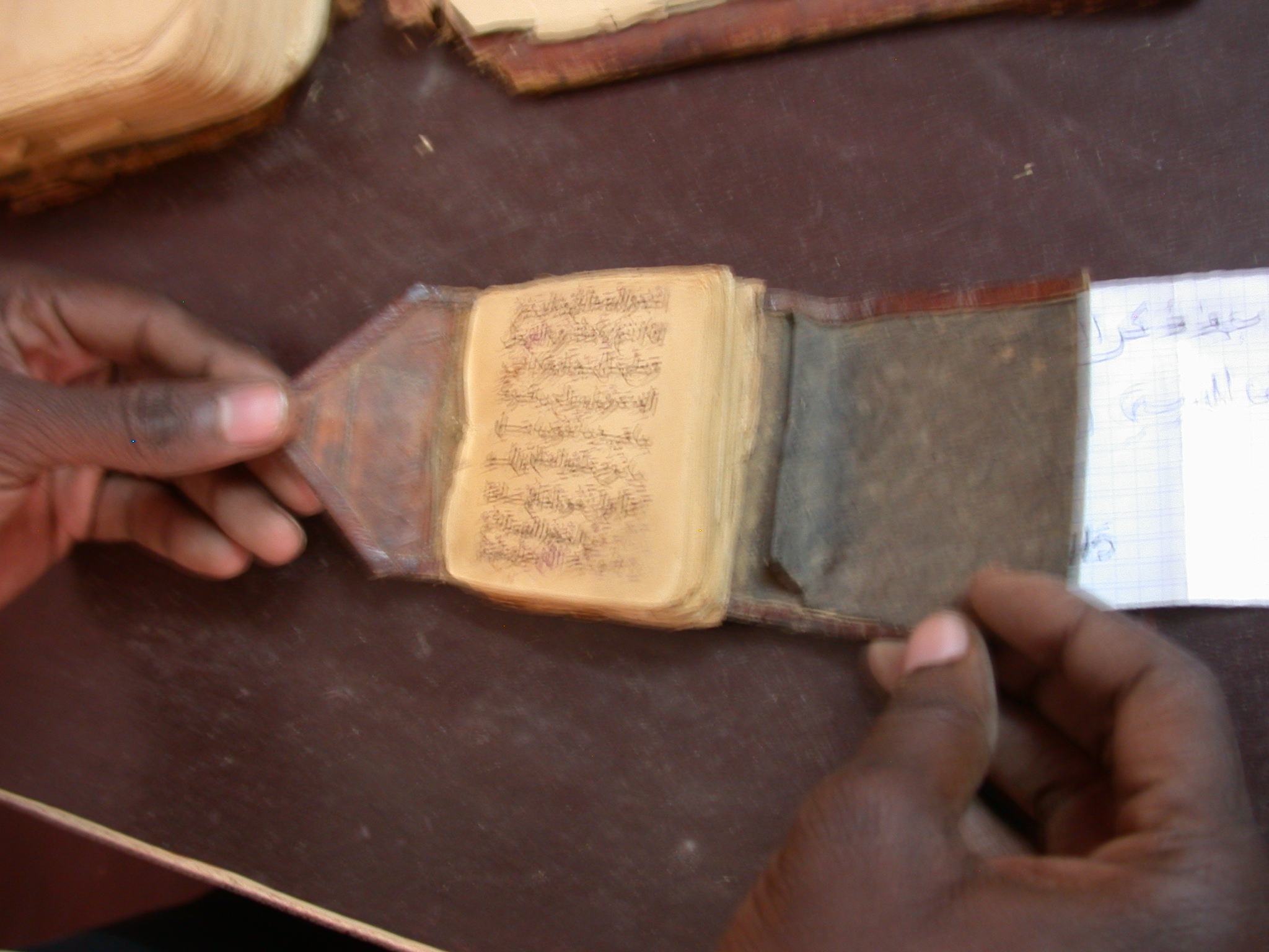 Need Transcription and Translation of Title, Arabic Label, Small Leather-Bound Manuscript, Manuscript Library, Timbuktu, Mali