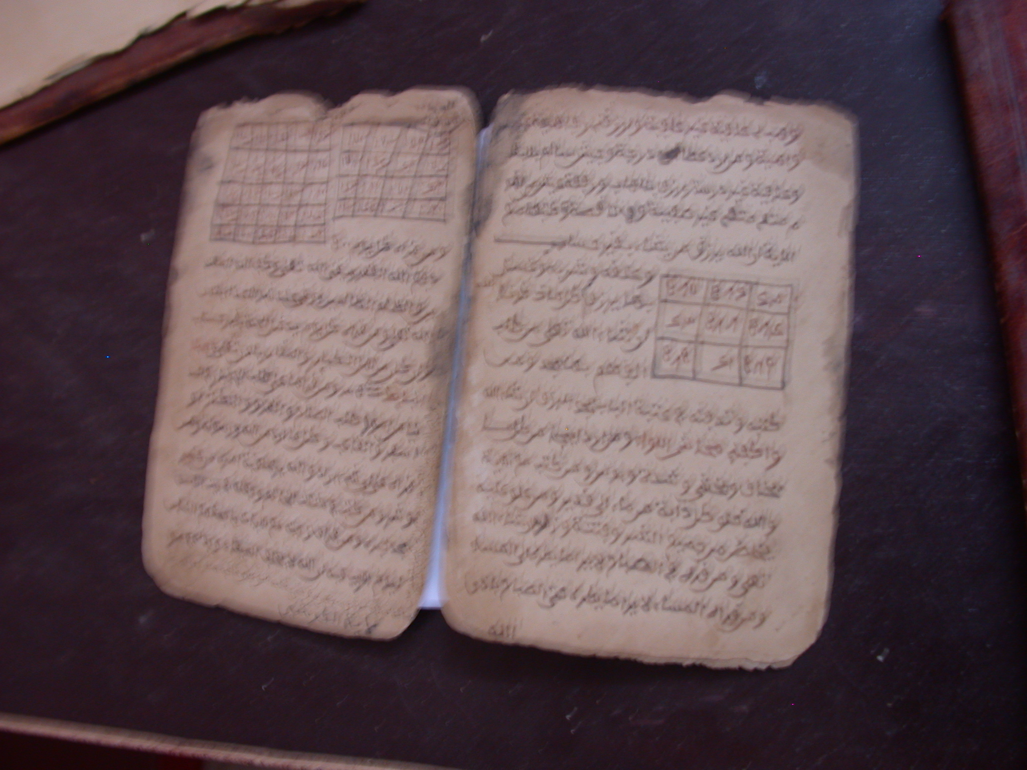 Need Transcription and Translation of Title, Marabout Magic Manuscript With Tables, Manuscript Library, Timbuktu, Mali