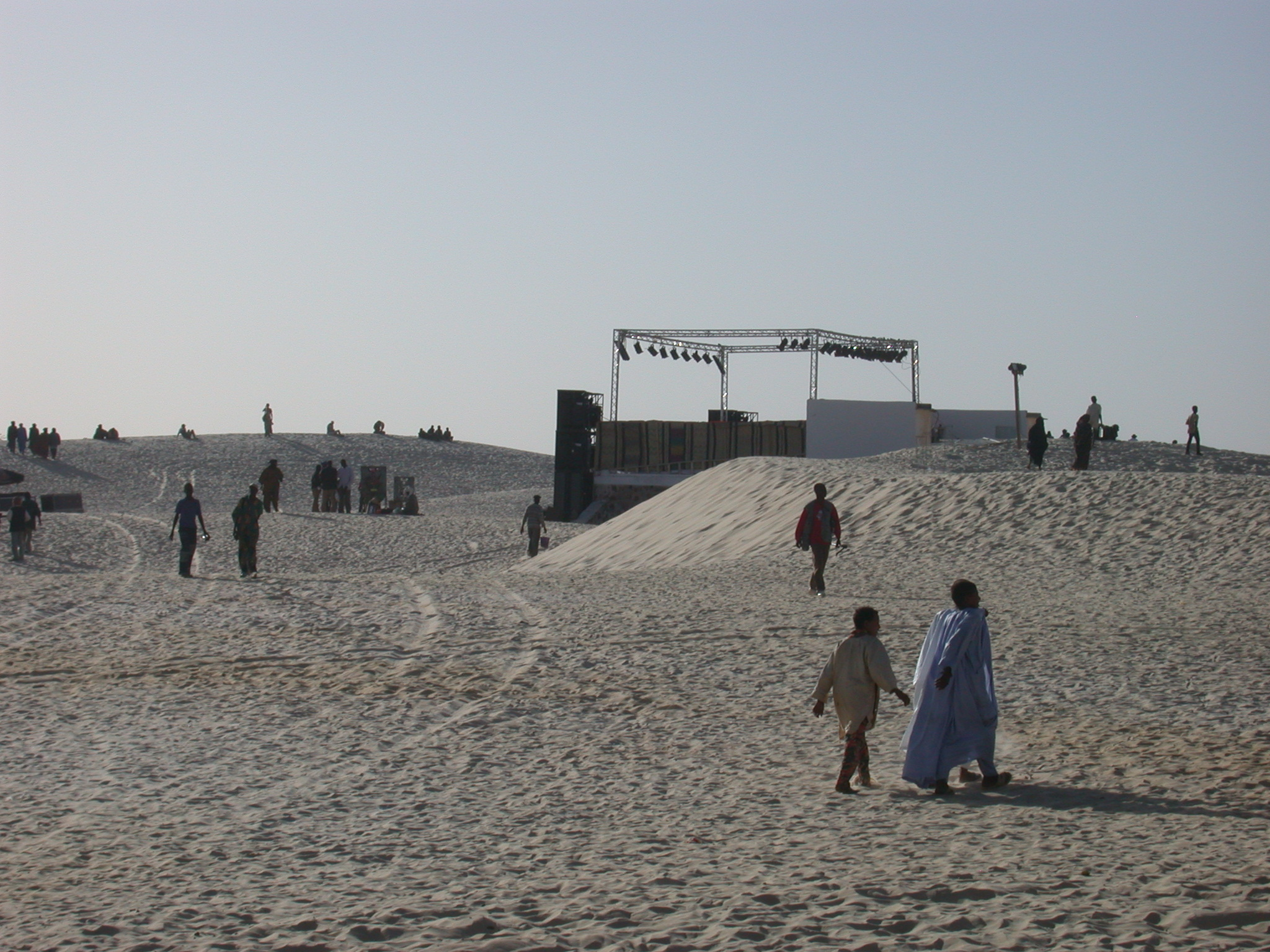 Stage Amidst Sand Dunes, Festival in the Desert, Essakane, Mali