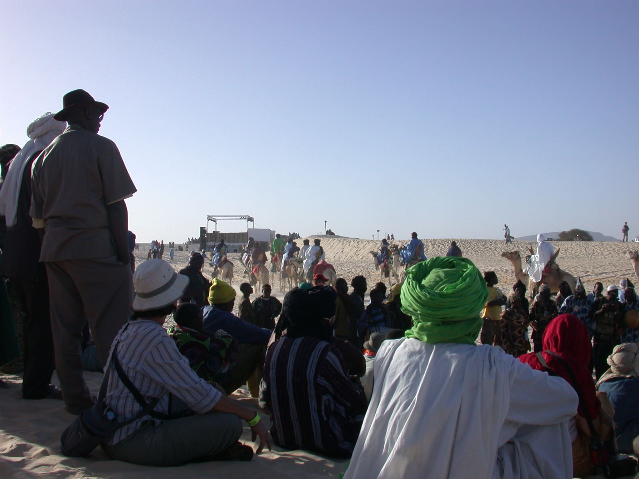 Audience Experiencing Local Mali Musicians, Festival in the Desert, Essakane, Mali