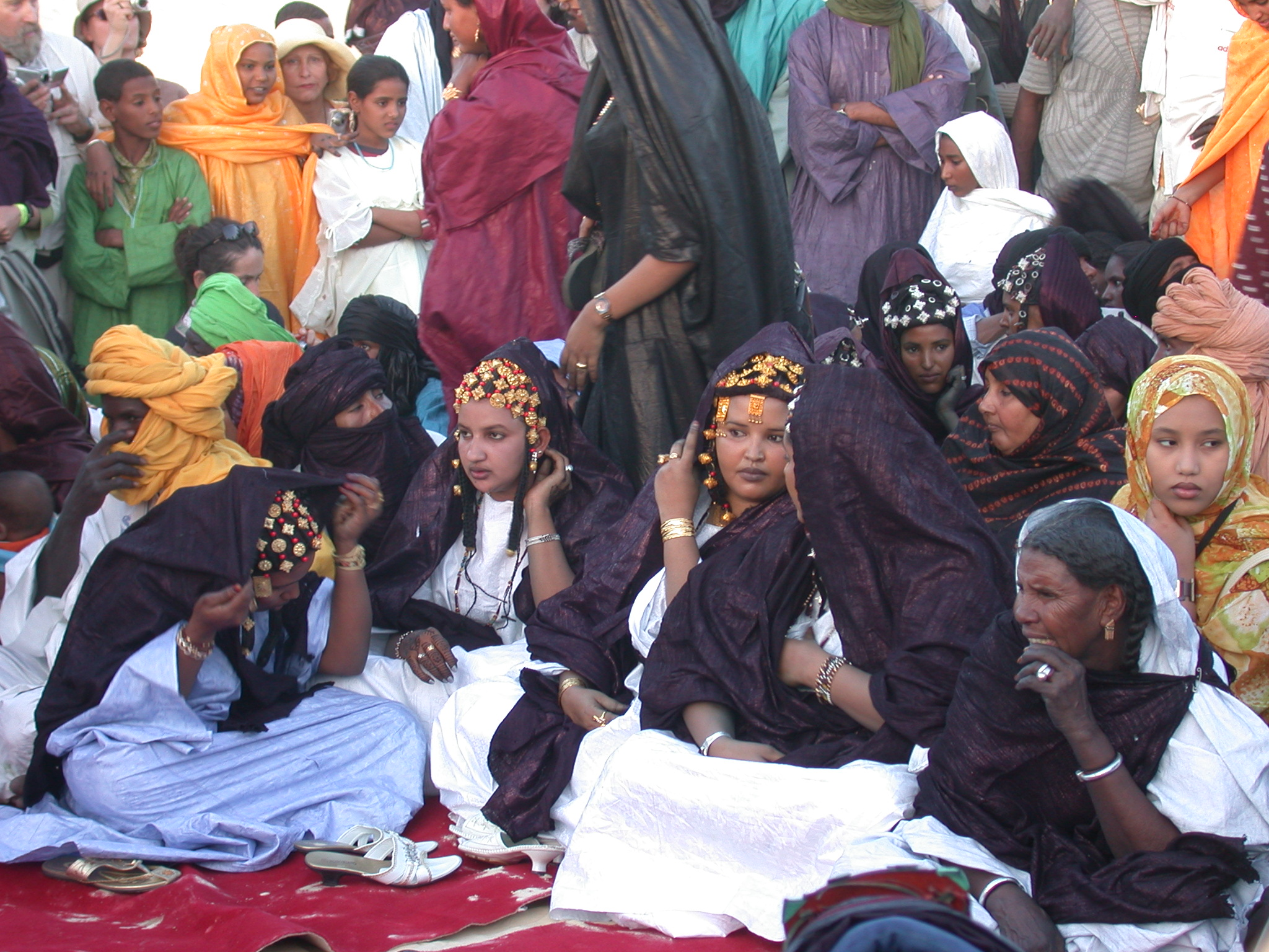 Ritual Involving Seated Women, Festival in the Desert, Essakane, Mali