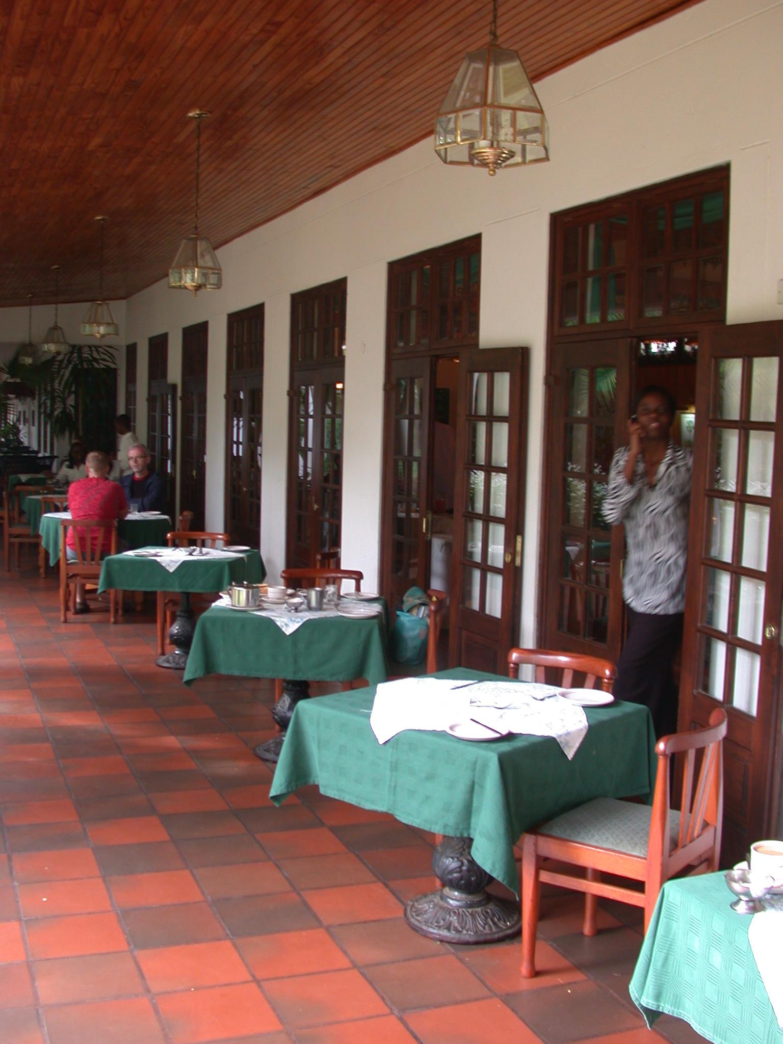 Restaurant at Bronte Hotel, Harare, Zimbabwe