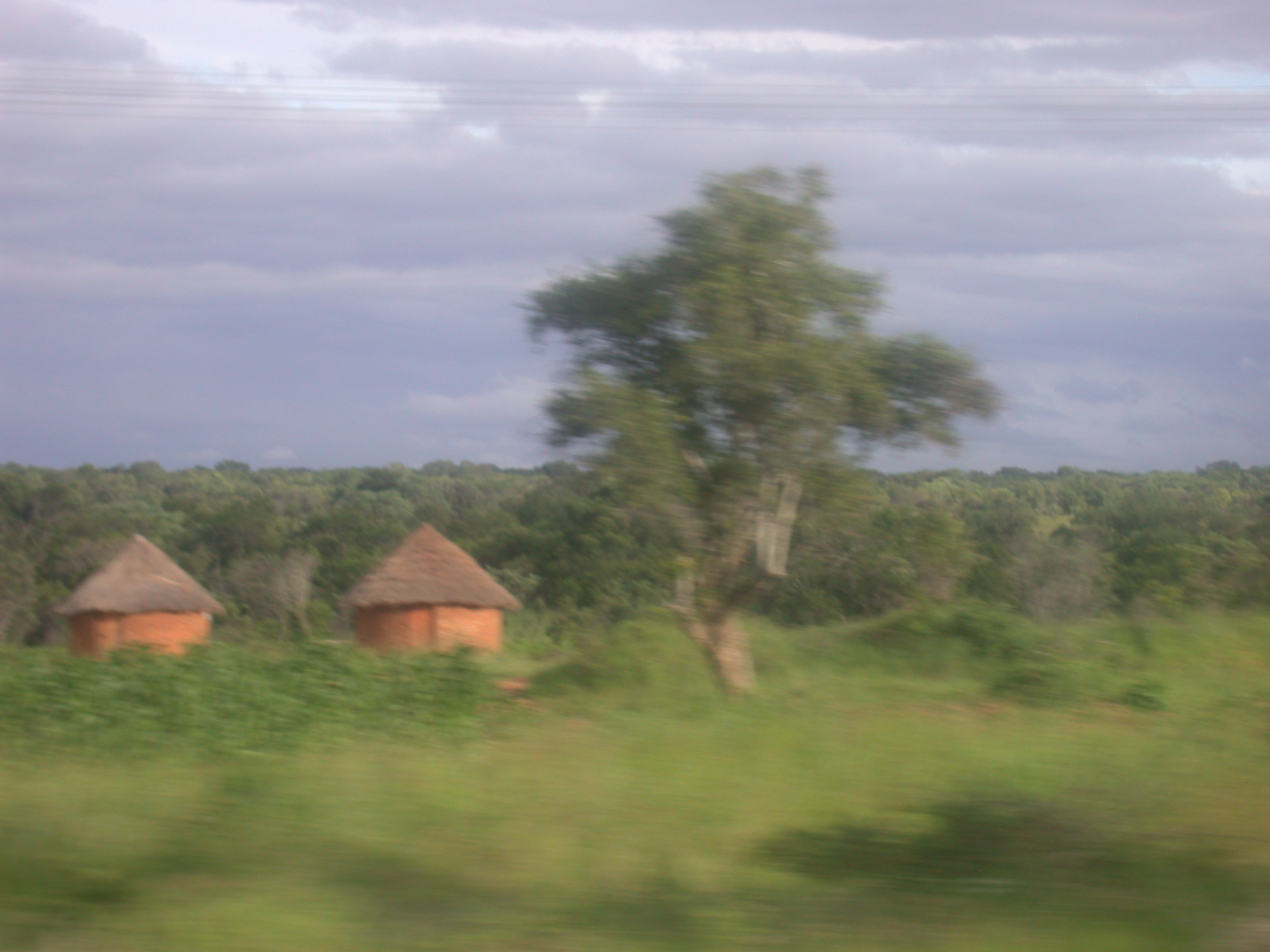 Landscaping Zimbabwe : Landscape and cone on cylinder buildings between harare masvingo