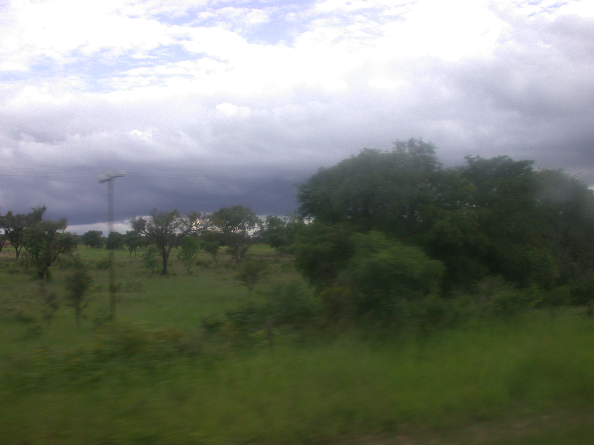 Landscape and Cloudy Sky Between Harare and Masvingo, Zimbabwe