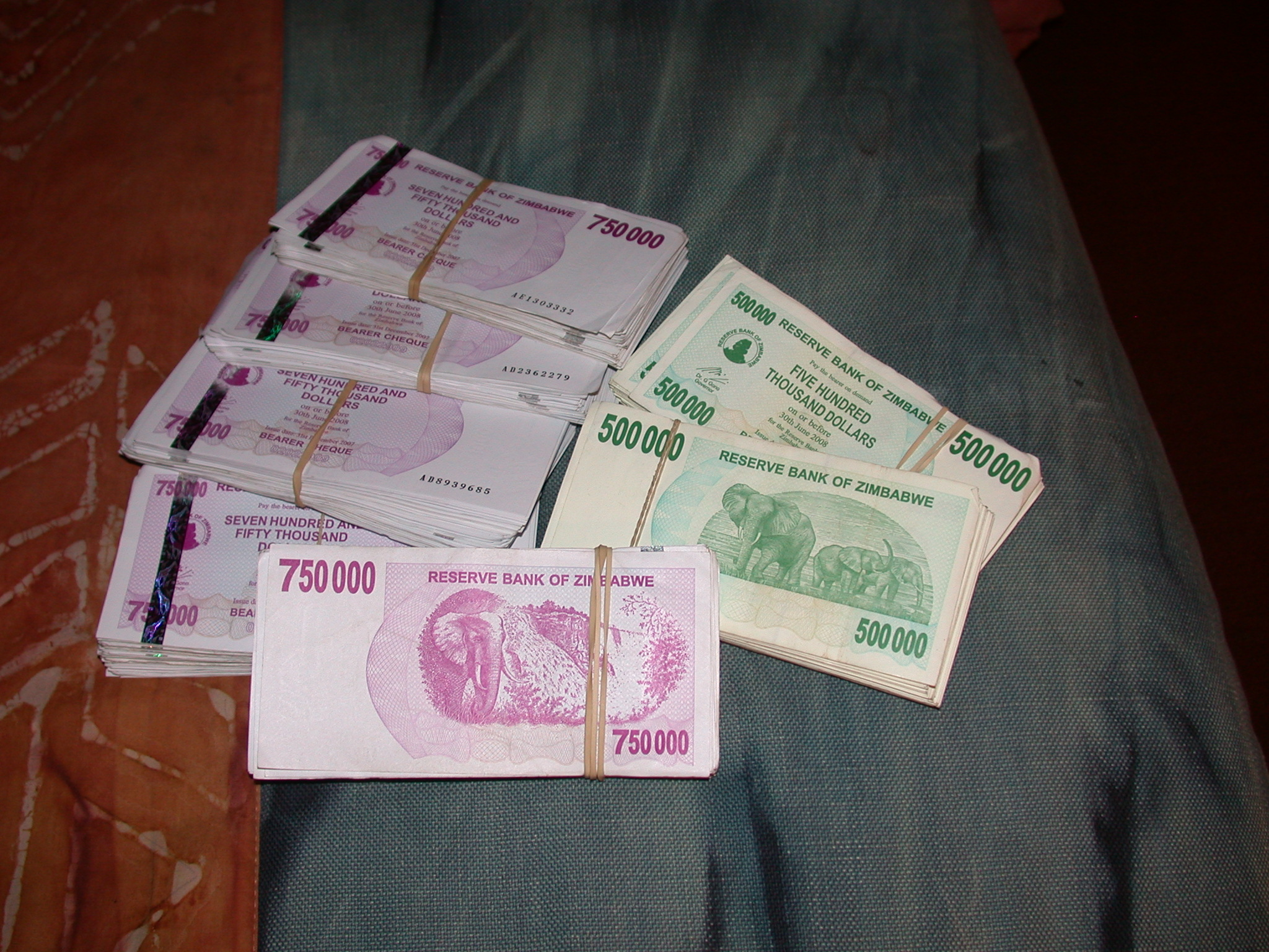 I Become a Millionaire, Currency Inflation in Zimbabwe