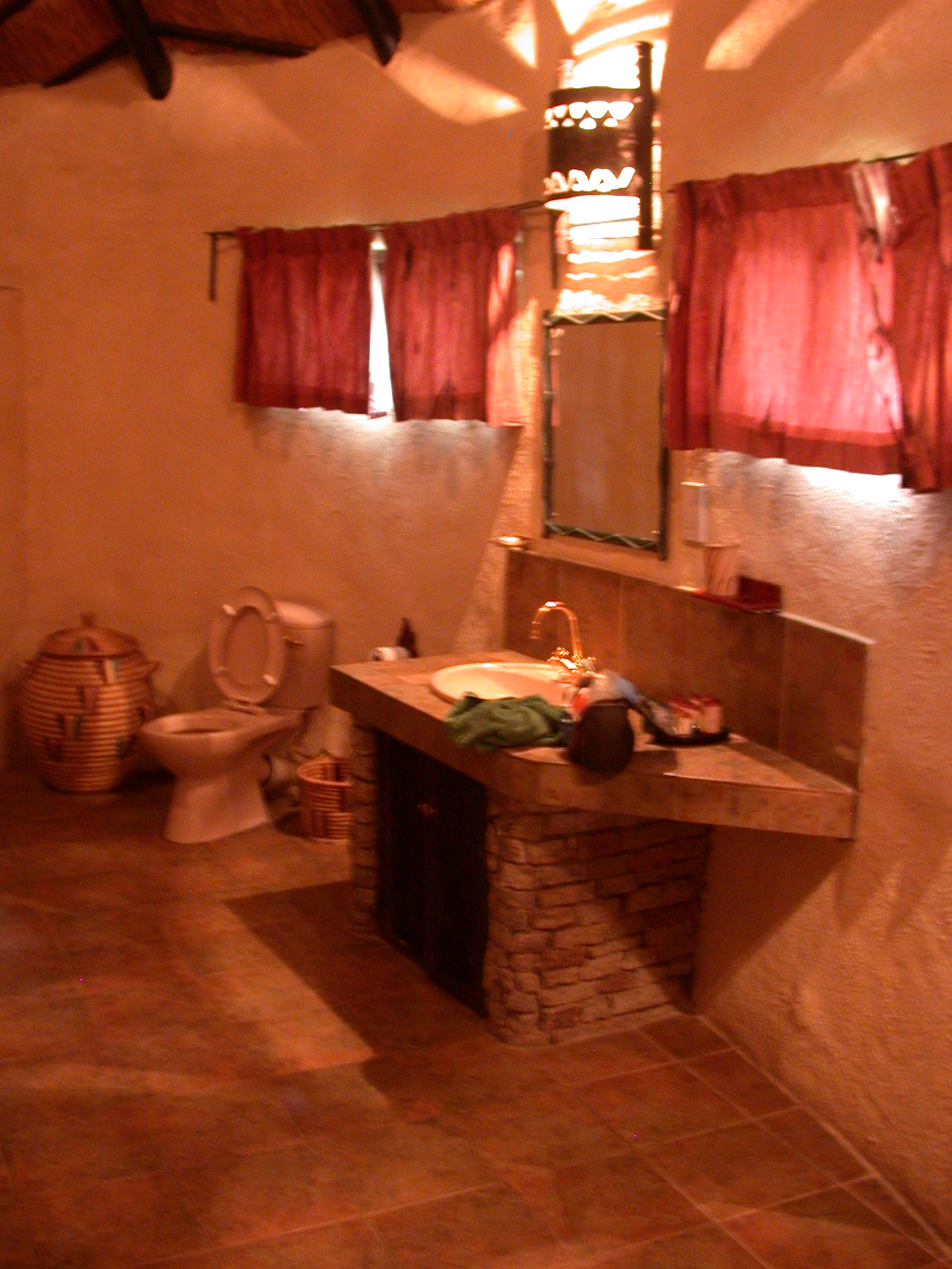 Bathroom of My Suite at the Ancient City Lodge, Great Zimbabwe, Outside Masvingo, Zimbabwe