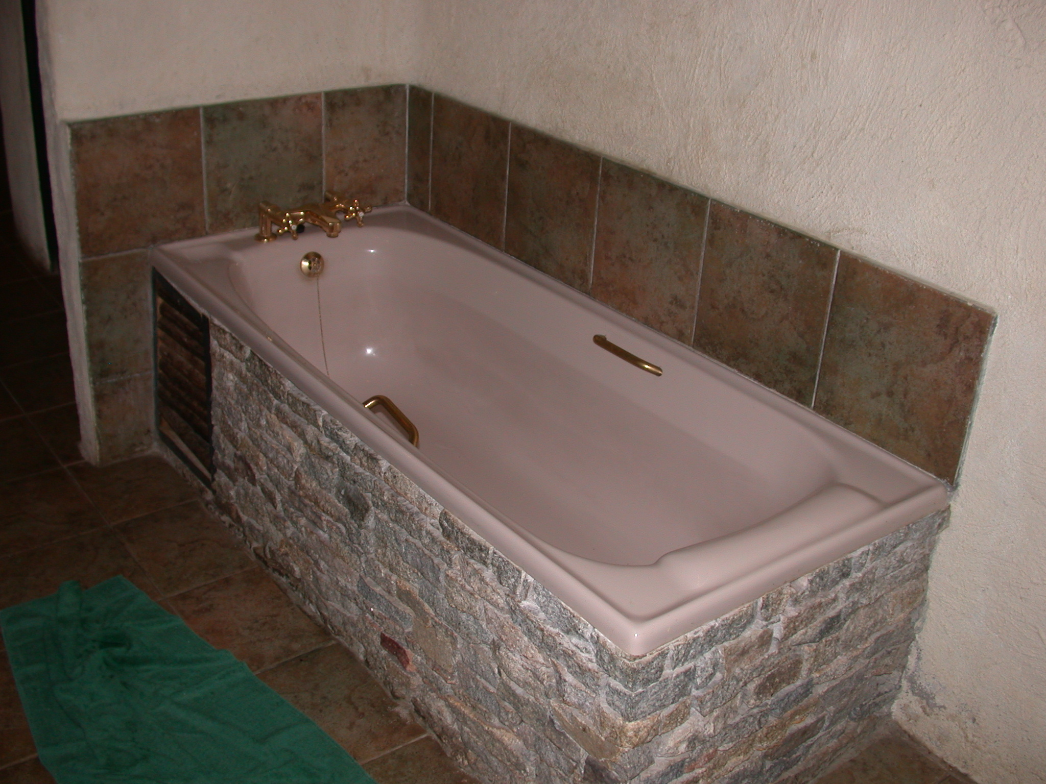 Bathtub in Bathroom of My Suite at the Ancient City Lodge, Great Zimbabwe, Outside Masvingo, Zimbabwe