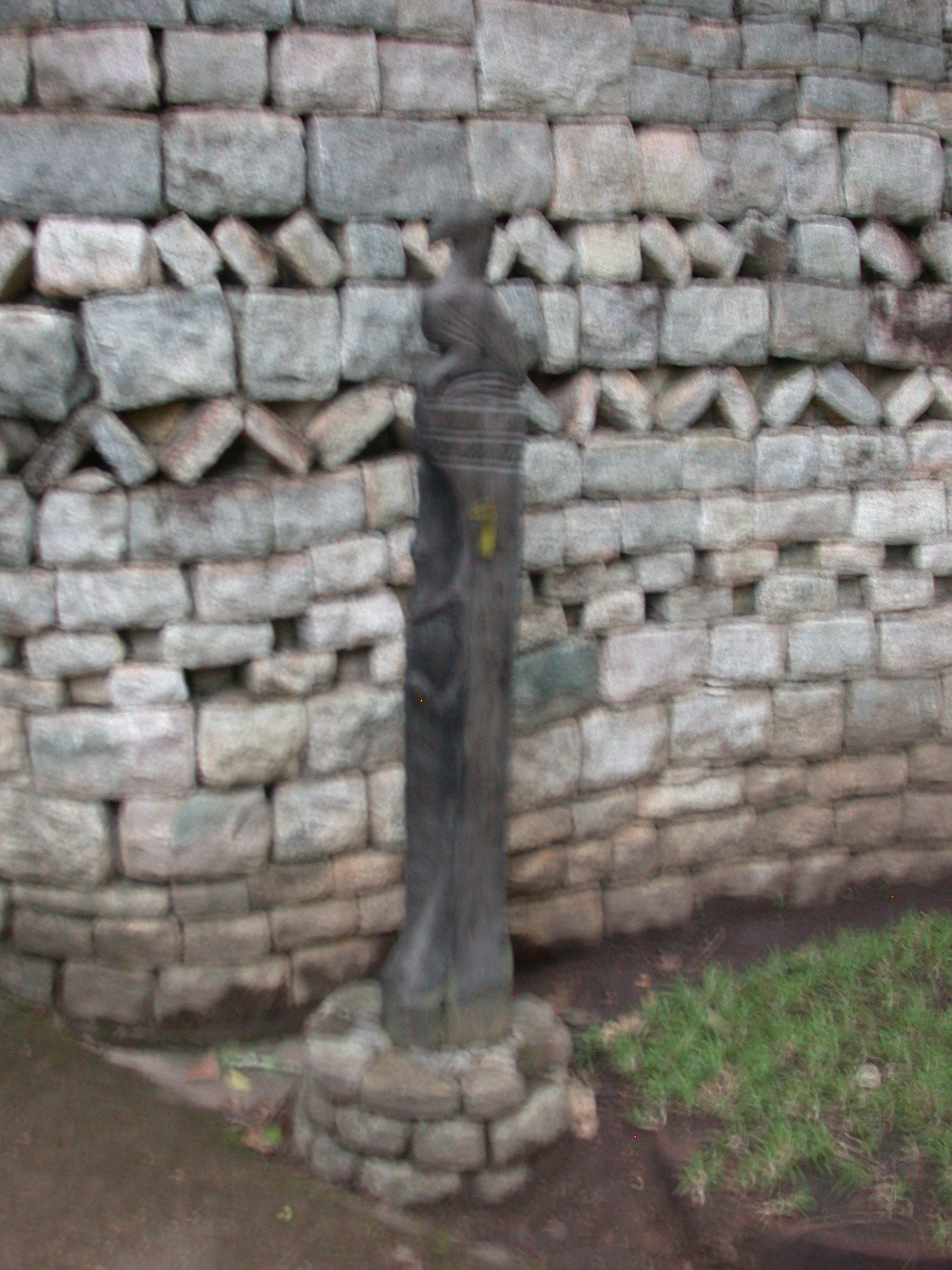 Sculpture of Great Zimbabwe Bird Outside the Enclosure Around My Suite at the Ancient City Lodge, Outside Masvingo, Zimbabwe