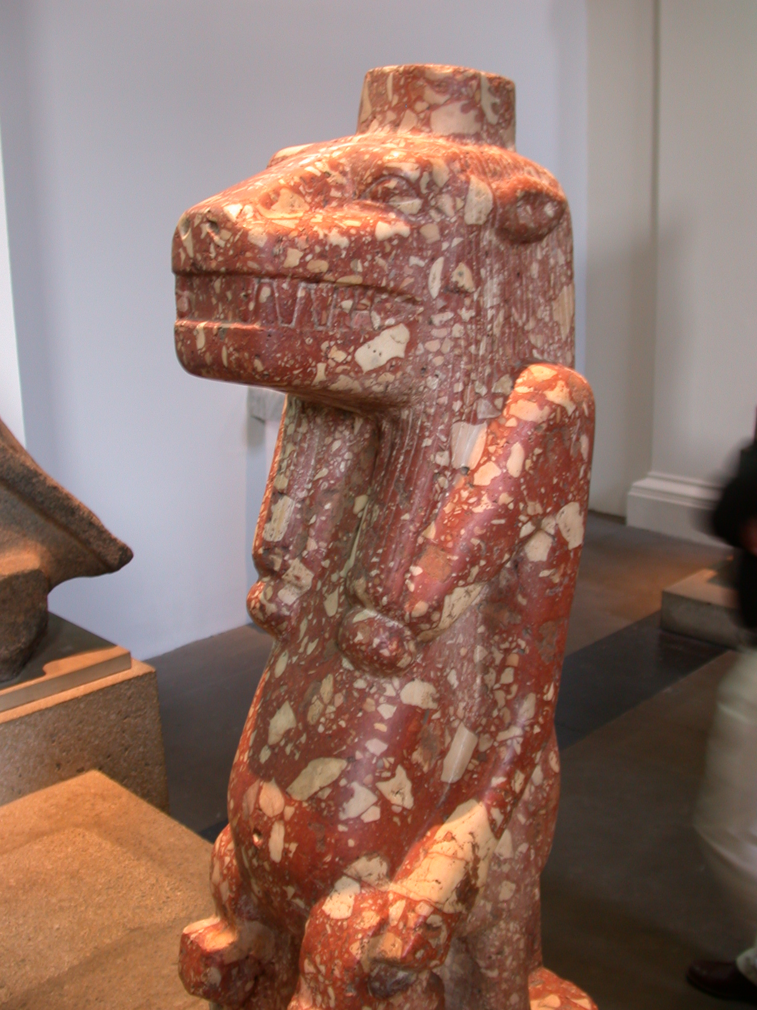 Red Breccia Figure of Tawaret or Tuaret, Late Period, Egyptian Gallery 4, British Museum, London, England