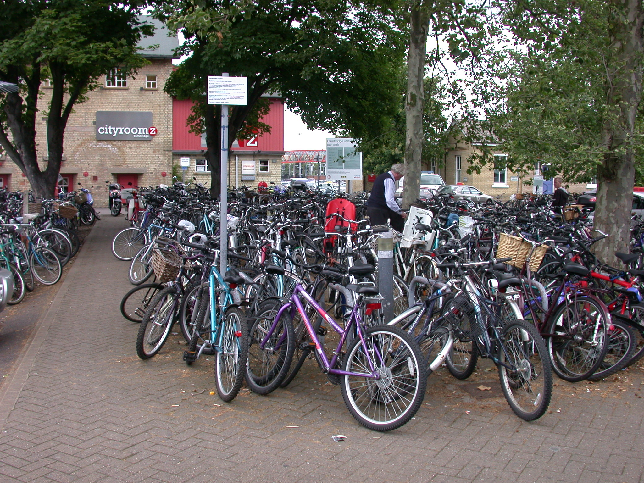 Bike Parking, Train Station, Cambridge, England