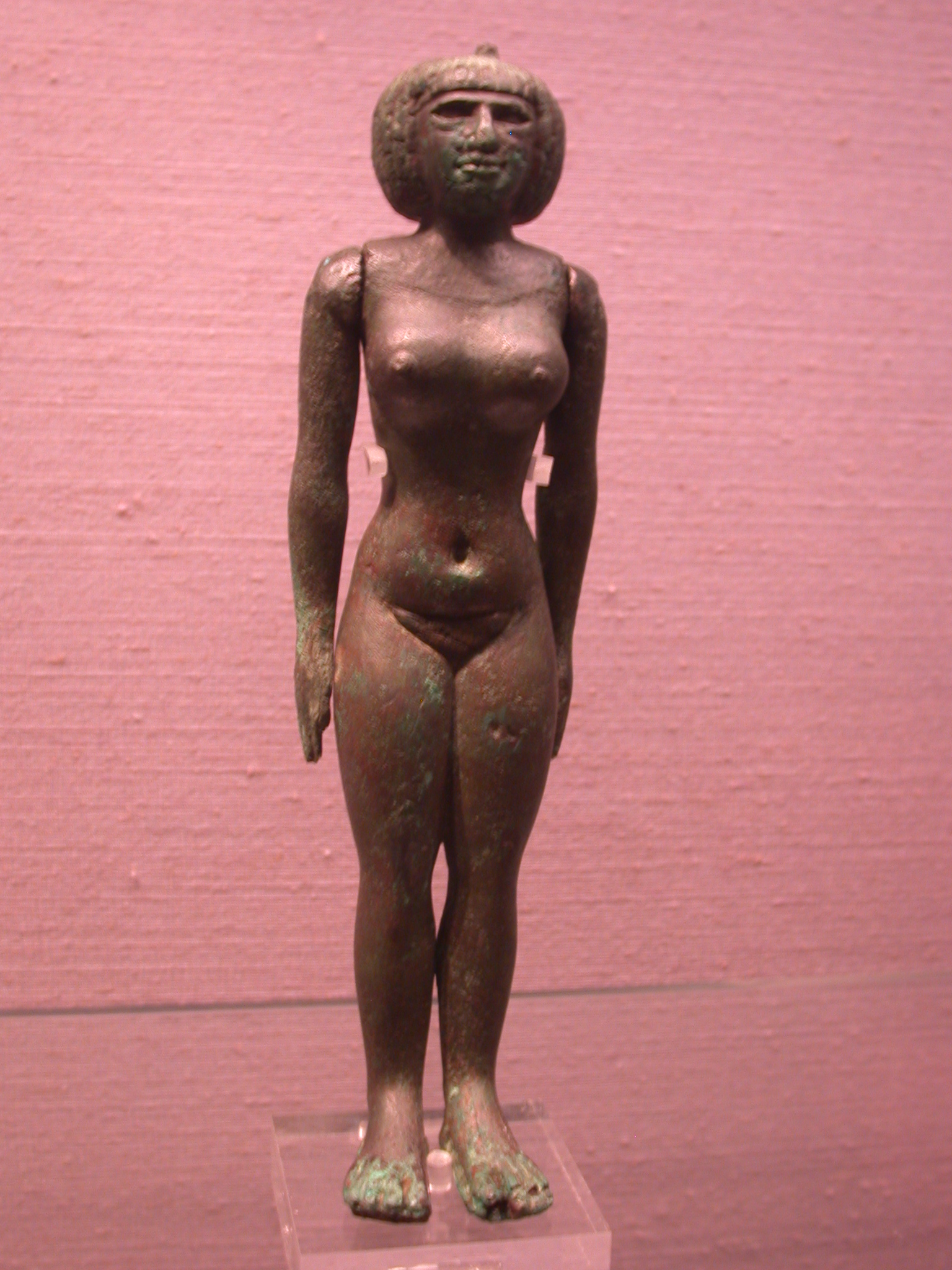 Nubian Fertility Figurine, Copper Alloy, 25th Dynasty Sudan, Fitzwilliam Museum, Cambridge, Englad