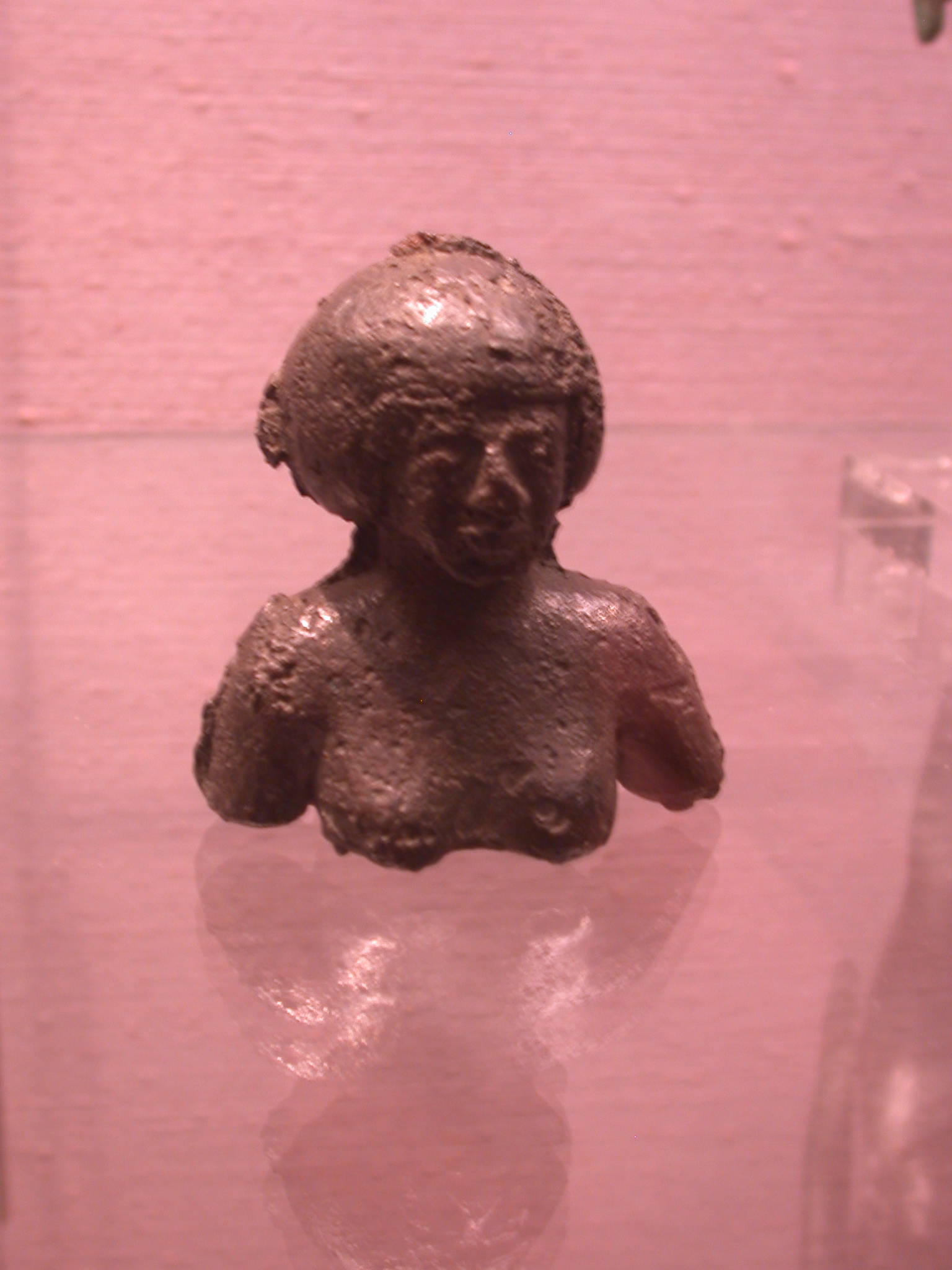 Nubian Bust of Female, Copper Alloy, 25th Dynasty Sudan, Fitzwilliam Museum, Cambridge, England