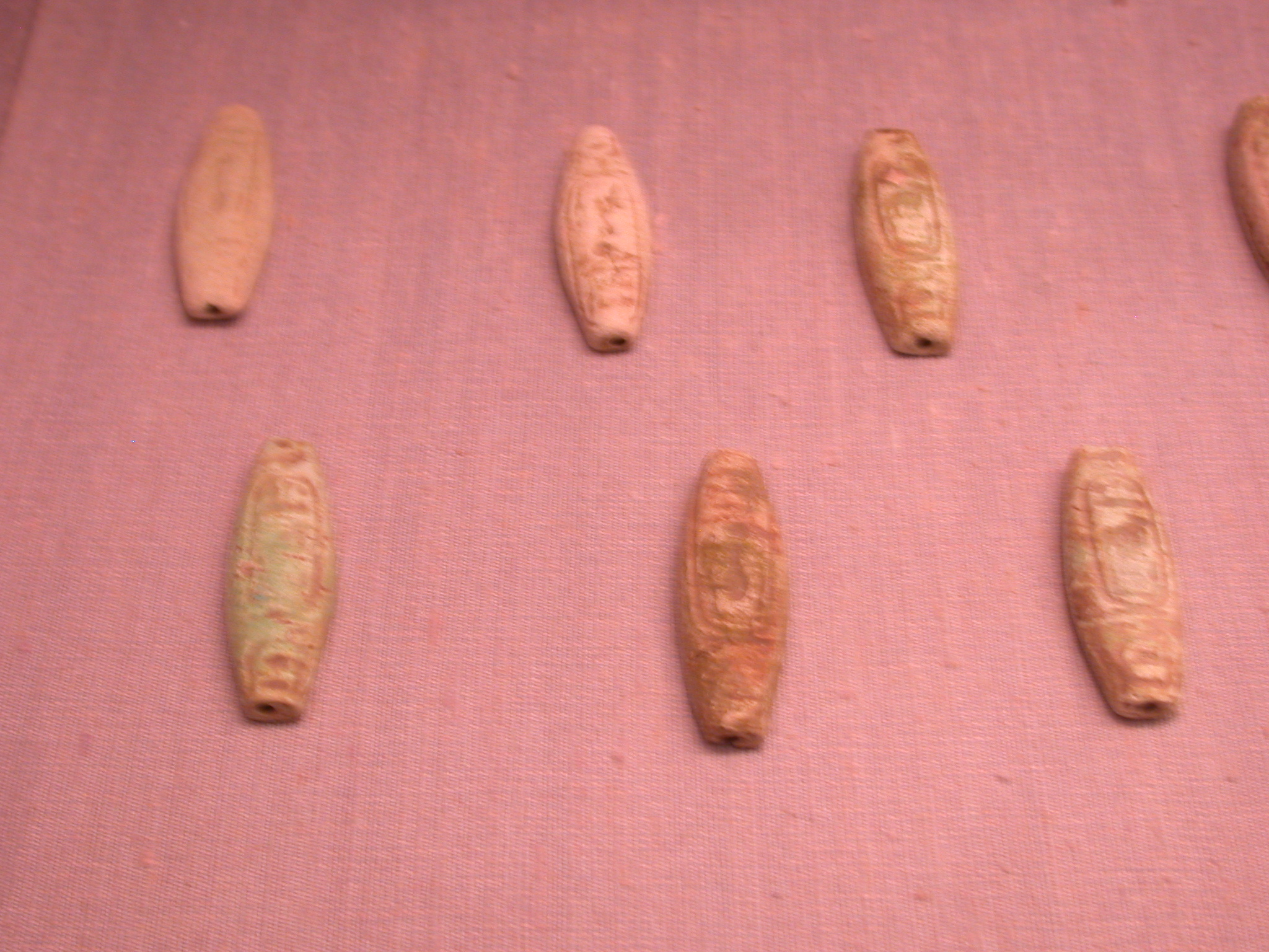 Faience Beads With Cartouches of Rulers, 25th Dynasty Sudan, Fitzwilliam Museum, Cambridge, England