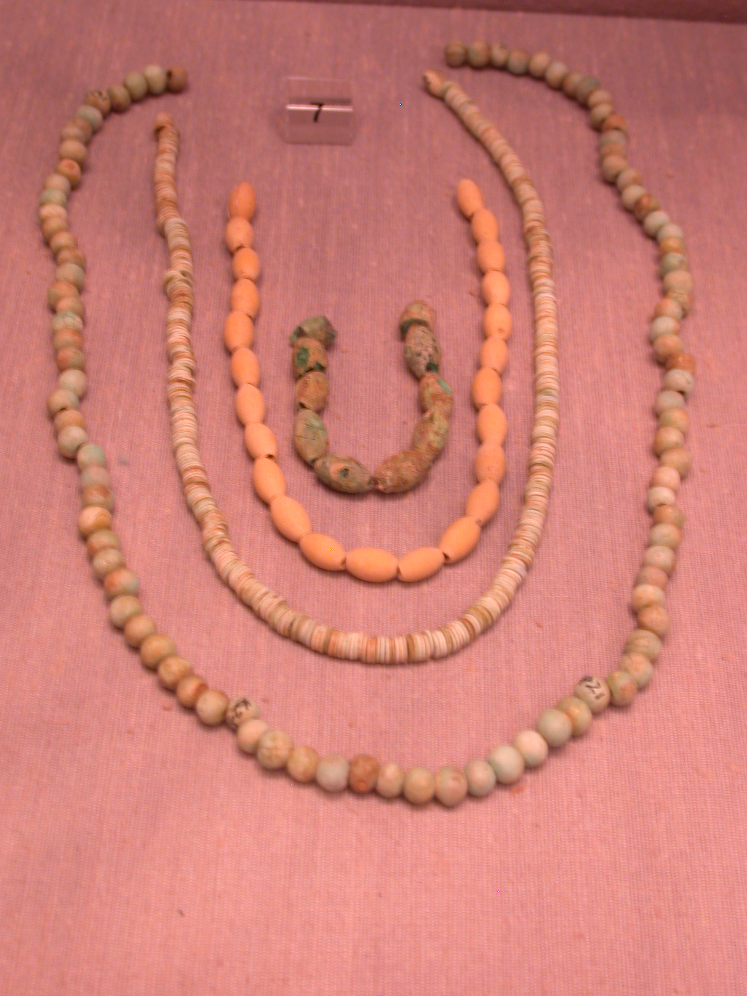 Glass, Faience, and Paste Necklaces, 25th Dynasty Sudan, Fitzwilliam Museum, Cambridge, England