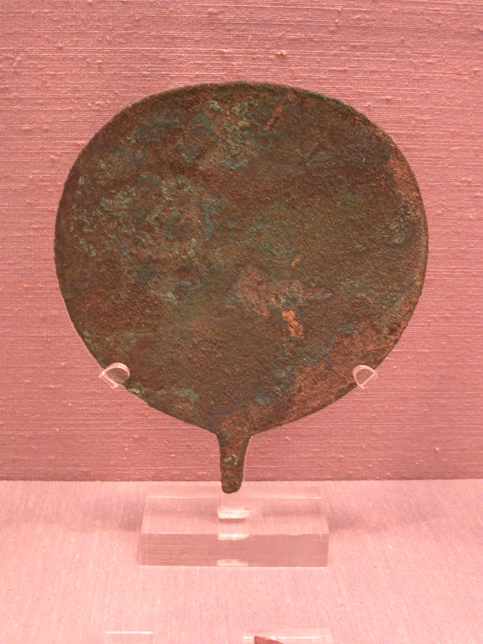Mirror, Copper Alloy, Sanam, 25th Dynasty Sudan, Fitzwilliam Museum, Cambridge, England