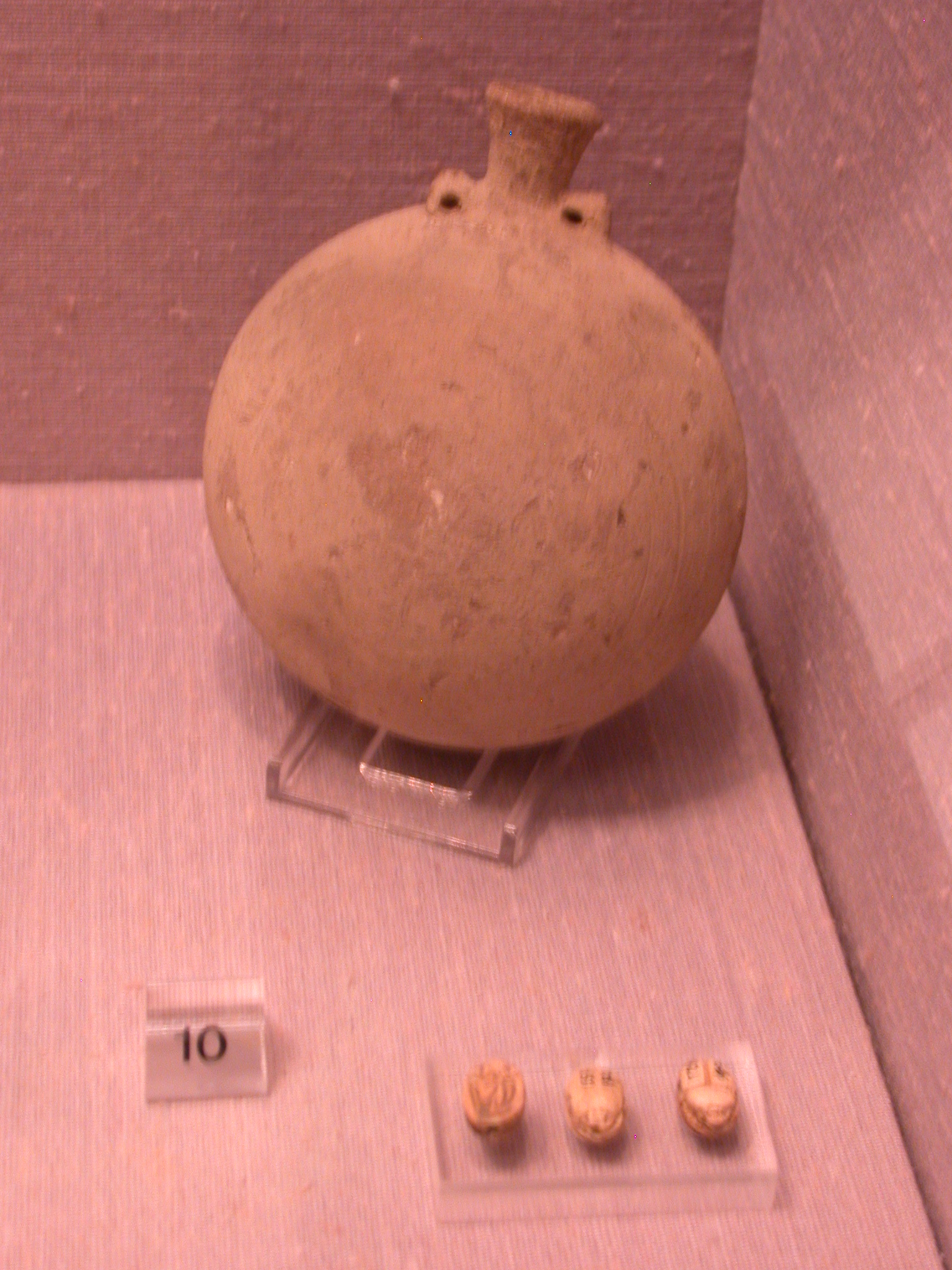 Pottery Vessel and Scarabs, Sanam, 25th Dynasty Sudan, Fitzwilliam Museum, Cambridge, England
