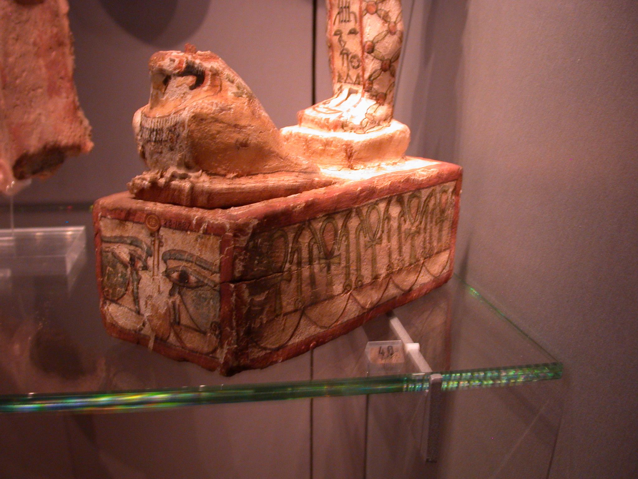 Wood Ptah-Sokar-Osiris Box Containing Papyrus Scroll, Late Period, 746-336 BCE, Egypt, Fitzwilliam Museum, Cambridge, England