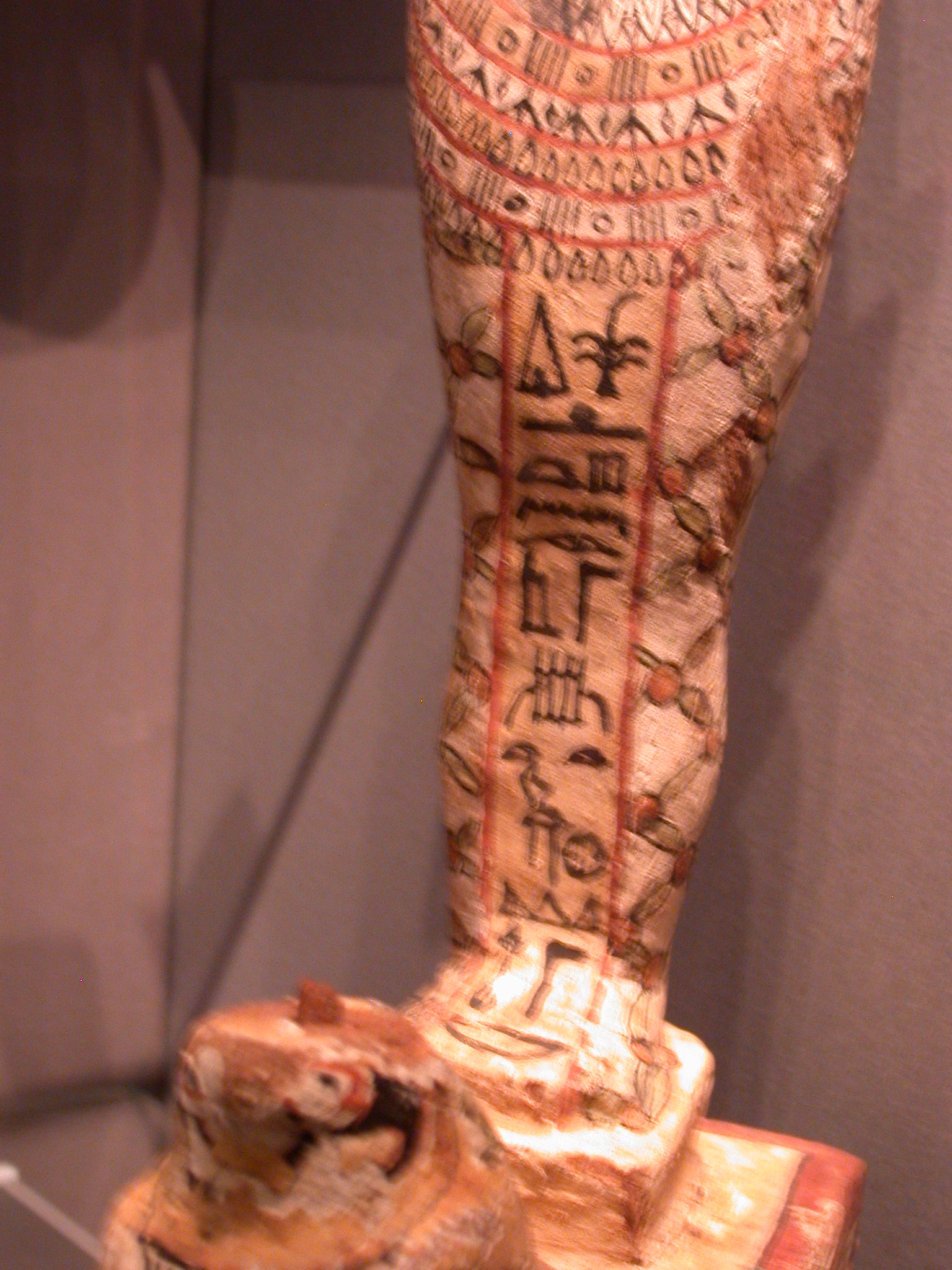 Wood Ptah-Sokar-Osiris Box Containing Papyrus Scroll, Late Period, 746-336 BCE, Egypt, Fitzwilliam Museum, Cambridge, England