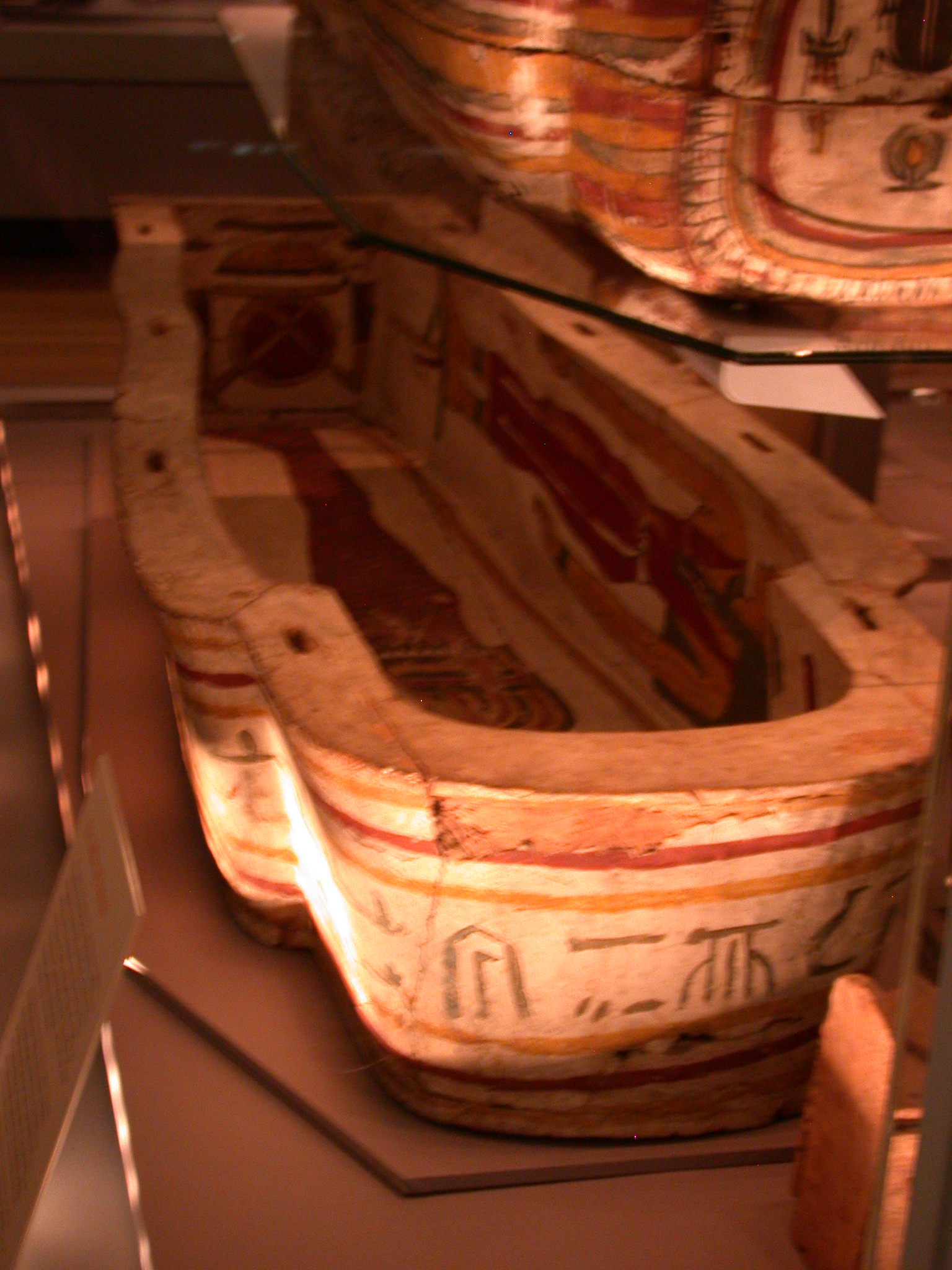 Bottom of Exterior Coffin of Pakepu, Water Carrier, West Bank of Thebes, Egypt, in Fitzwilliam Museum, Cambridge, England