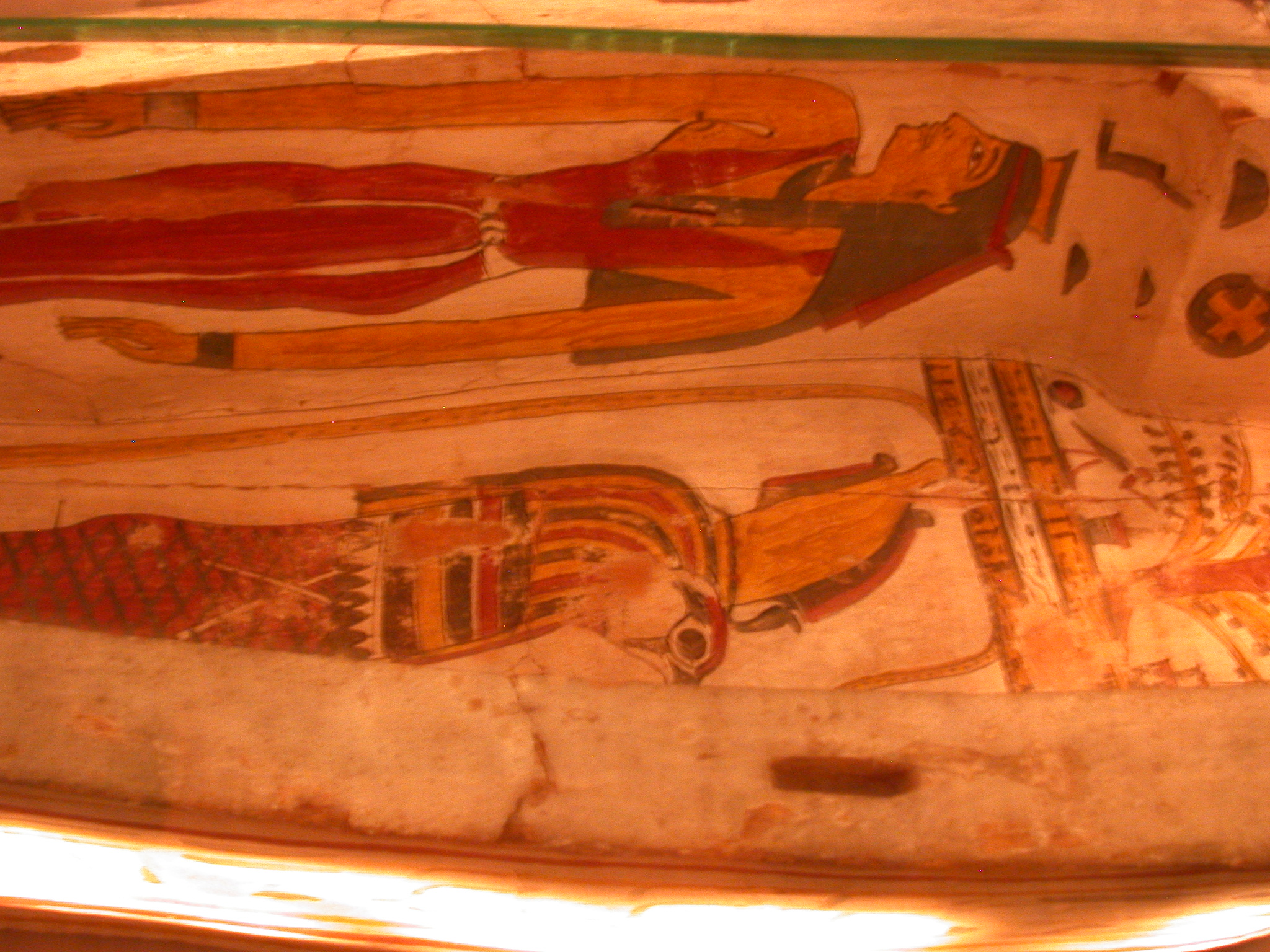Interior of Bottom of Exterior Coffin of Pakepu, Water Carrier, West Bank of Thebes, Egypt, in Fitzwilliam Museum, Cambridge, England