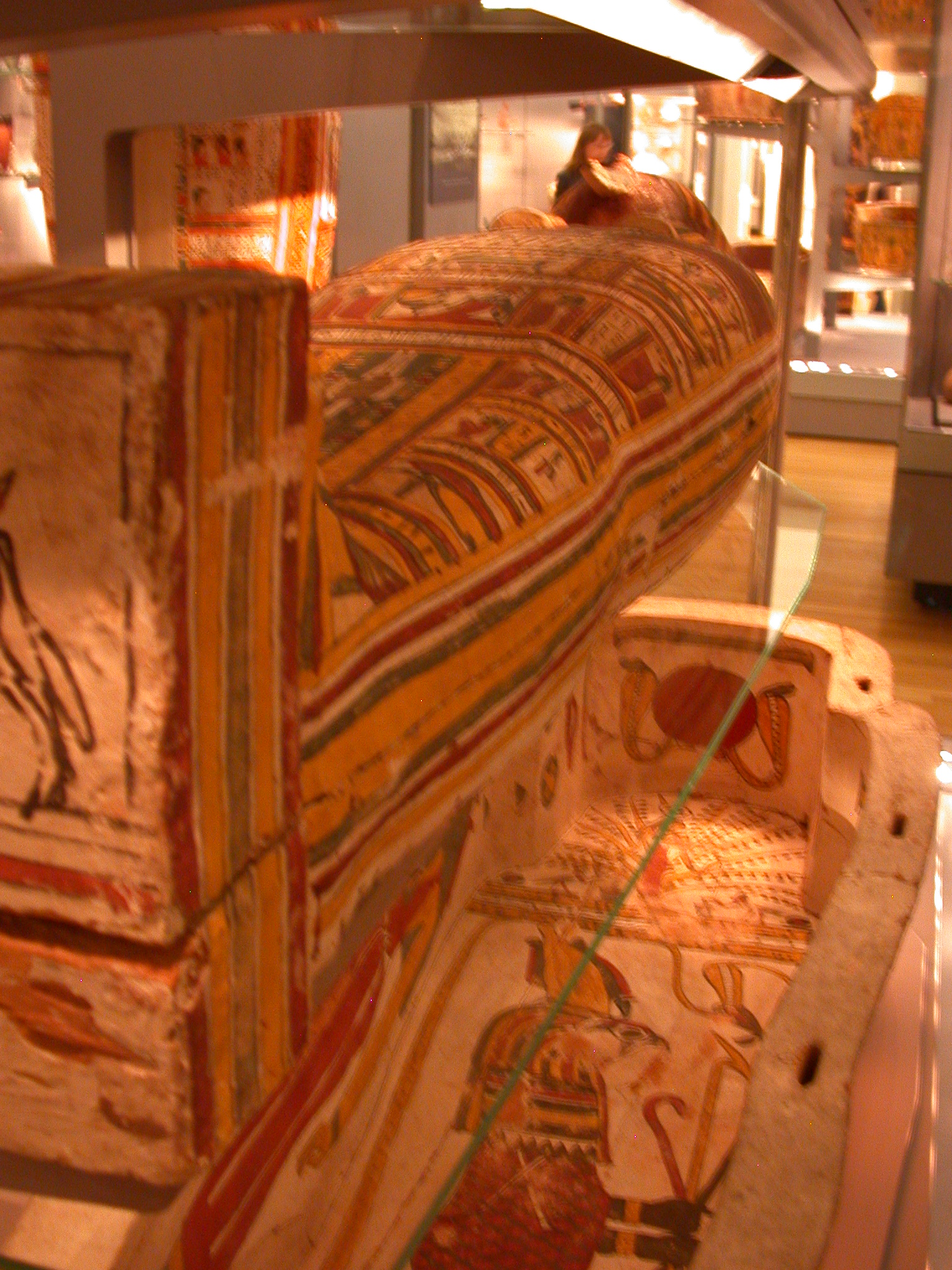 Inner Coffin of Pakepu, Water Carrier, West Bank of Thebes, Egypt, in Fitzwilliam Museum, Cambridge, England