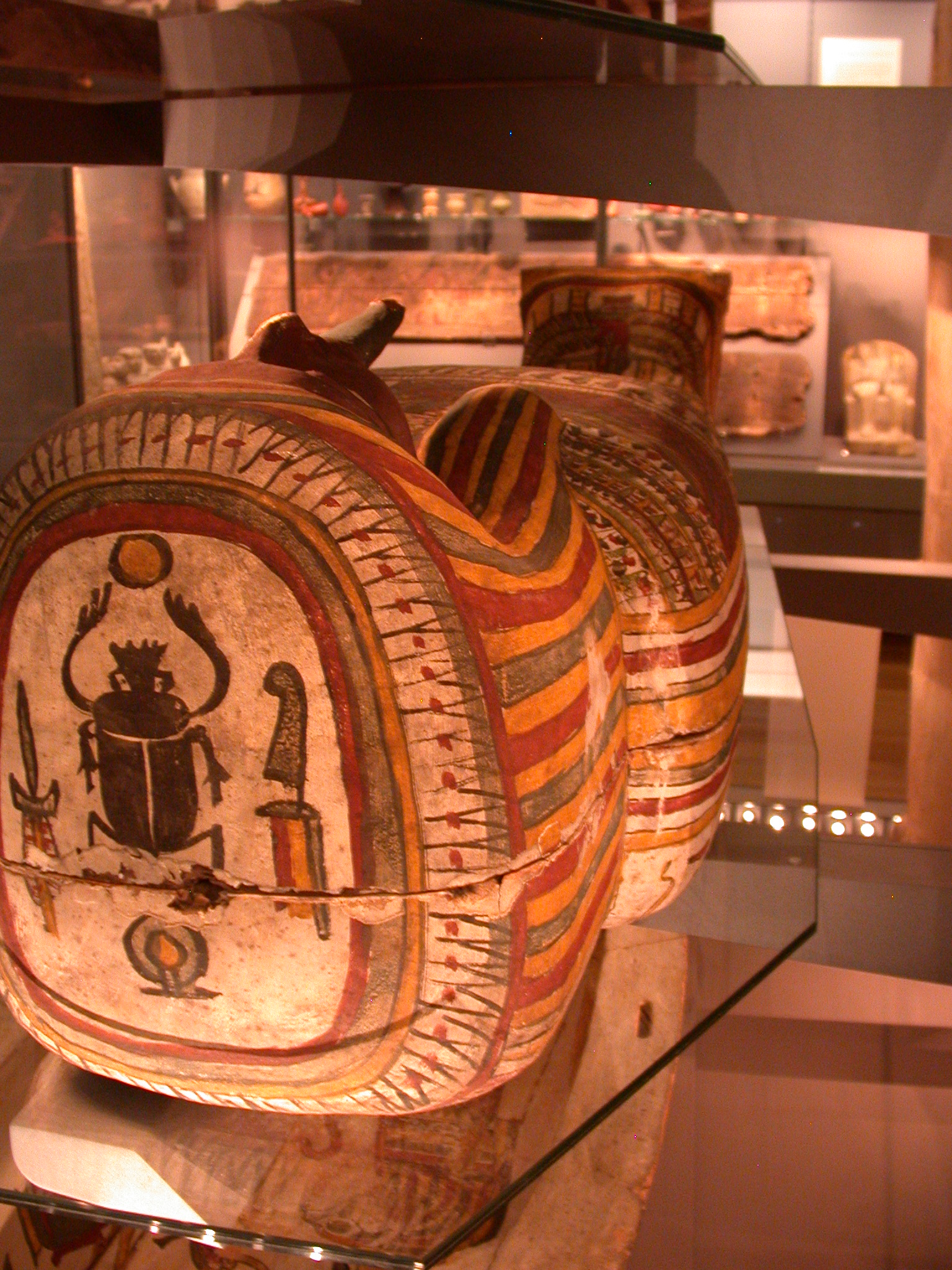 Base of Inner Coffin of Pakepu, Water Carrier, West Bank of Thebes, Egypt, in Fitzwilliam Museum, Cambridge, England