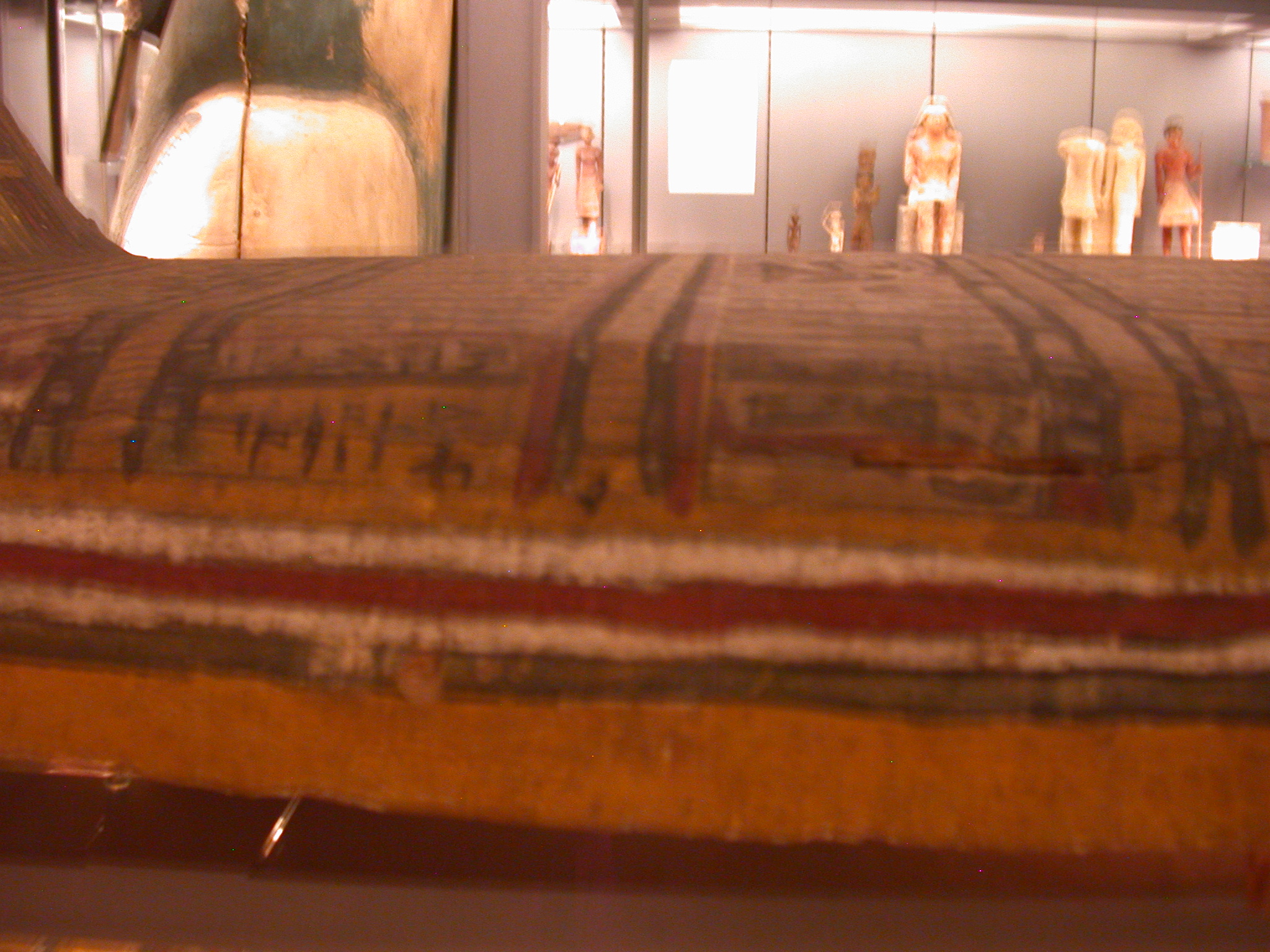 Top of Exterior Coffin of Pakepu, Water Carrier, West Bank of Thebes, Egypt, in Fitzwilliam Museum, Cambridge, England