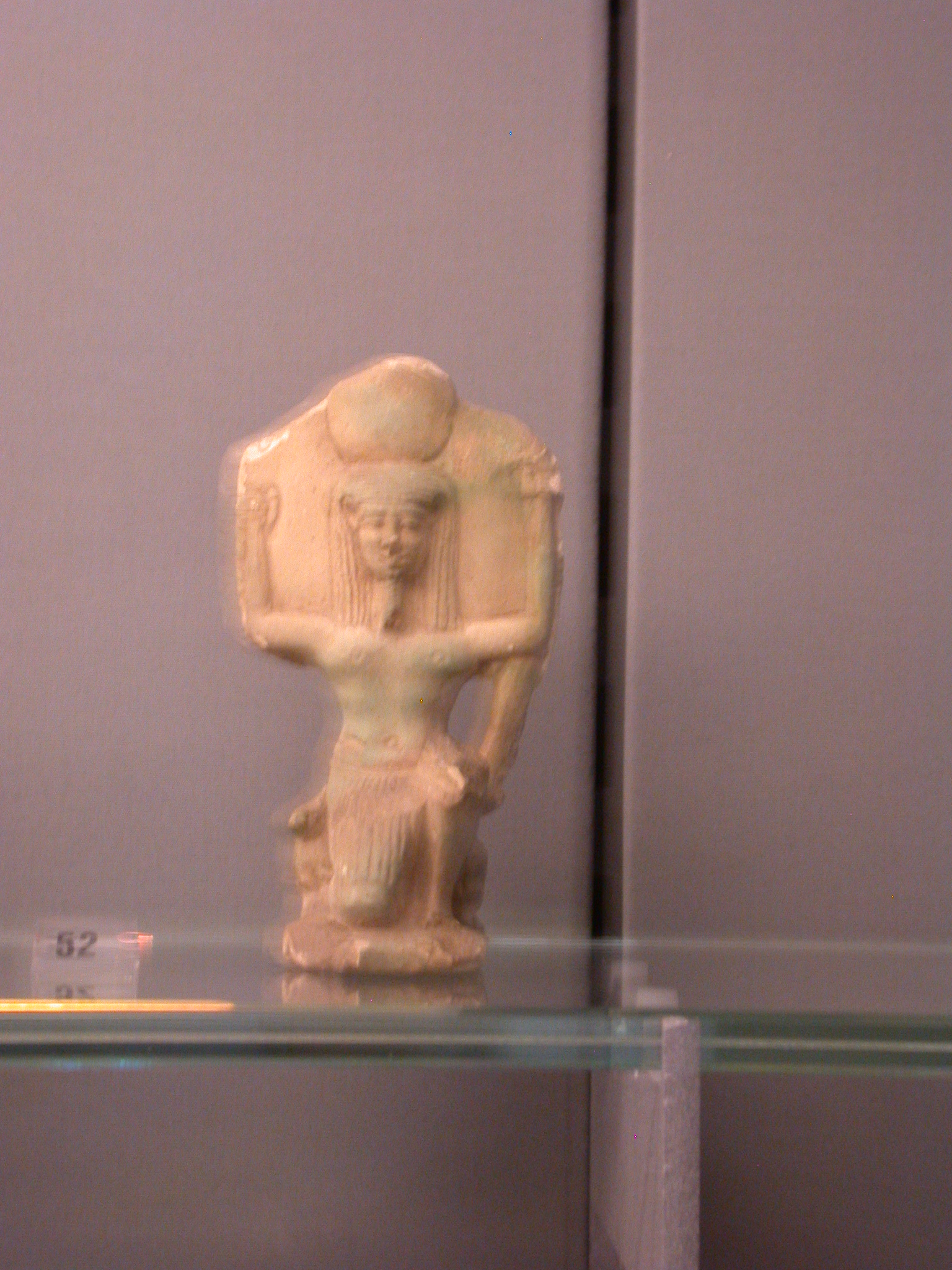 Faience Figure of Shu, God of Sunlight and Air, Late Period, 746-336 BCE, Egypt, Fitzwilliam Museum, Cambridge, England