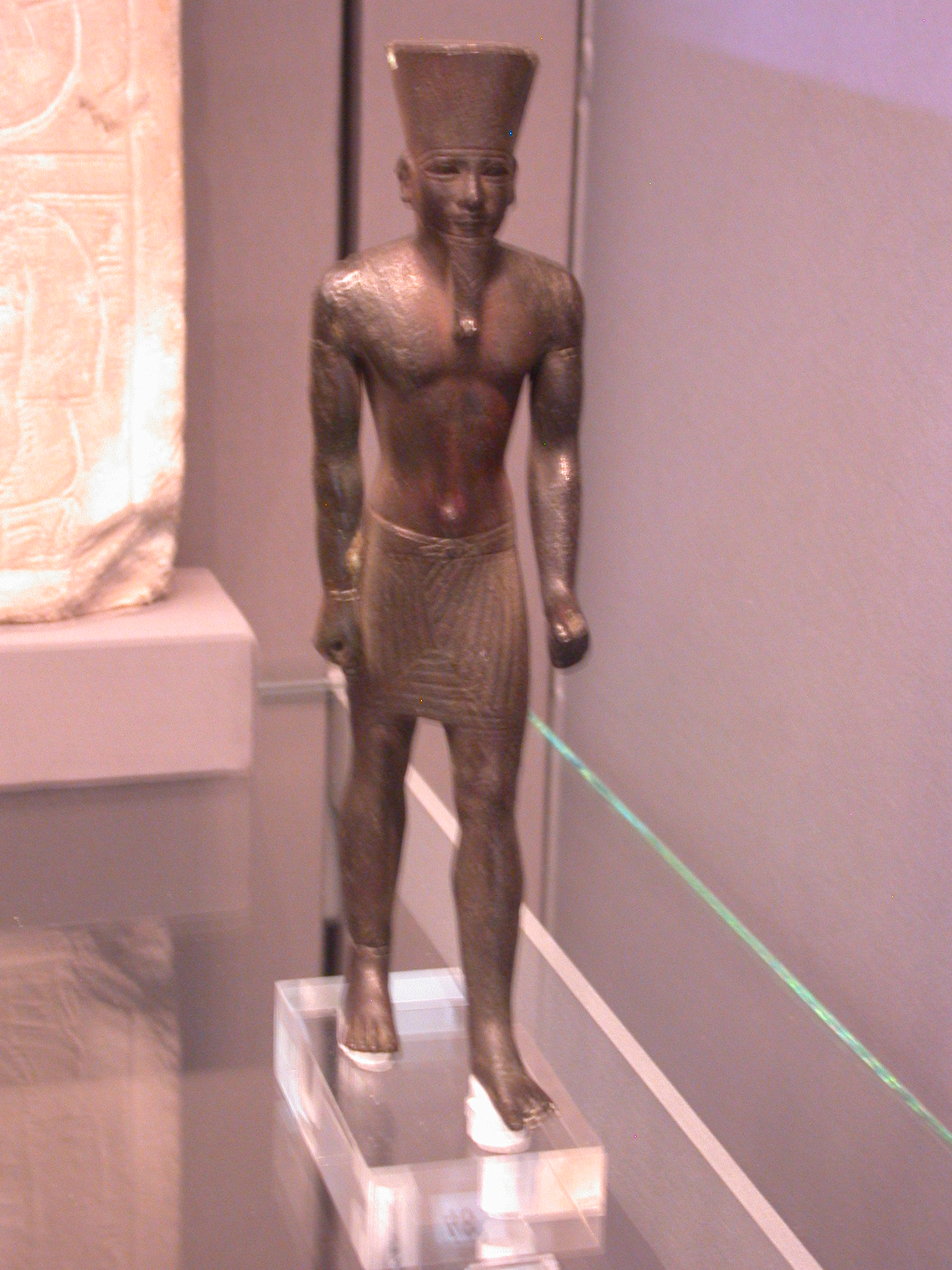 Amun Figure, Copper Alloy, Late Period, 746-336 BCE, Egypt, at Fitzwilliam Museum, Cambridge, England