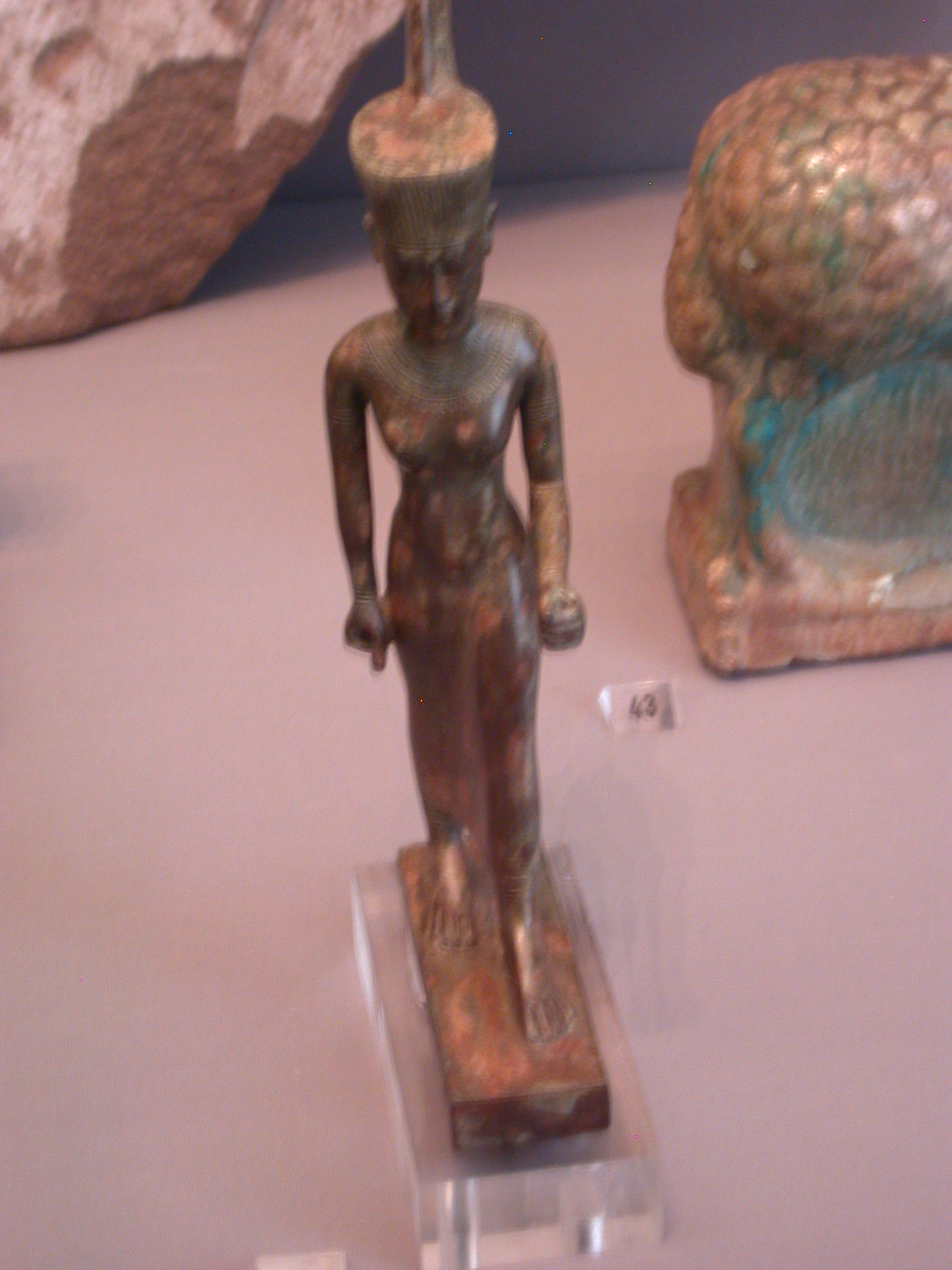 Neith Statue, Goddess of Sais Associated With Warfare, Late Period, 746-336 BCE, Egypt, in Fitzwilliam Museum, Cambridge, England