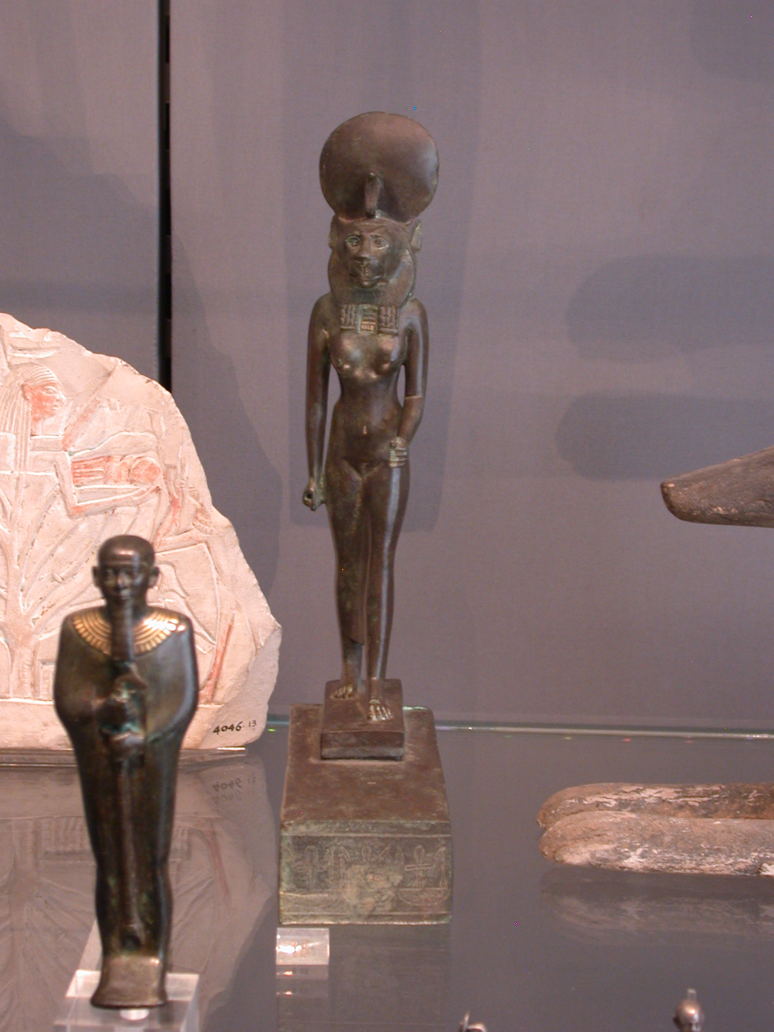 Sekhmet Figure, Copper Alloy, Late Period, 746-336 BCE, Egypt, in Fitzwilliam Museum, Cambridge, England