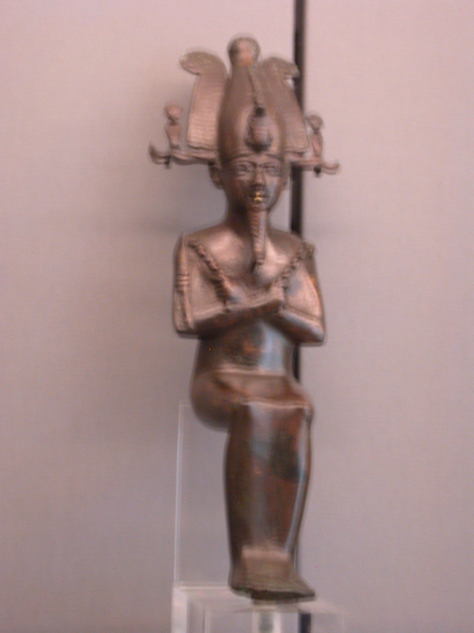 Osiris Figure, God of Underworld, Copper Alloy, Late Period, 746-336 BCE, Egypt, in Fitzwilliam Museum, Cambridge, England