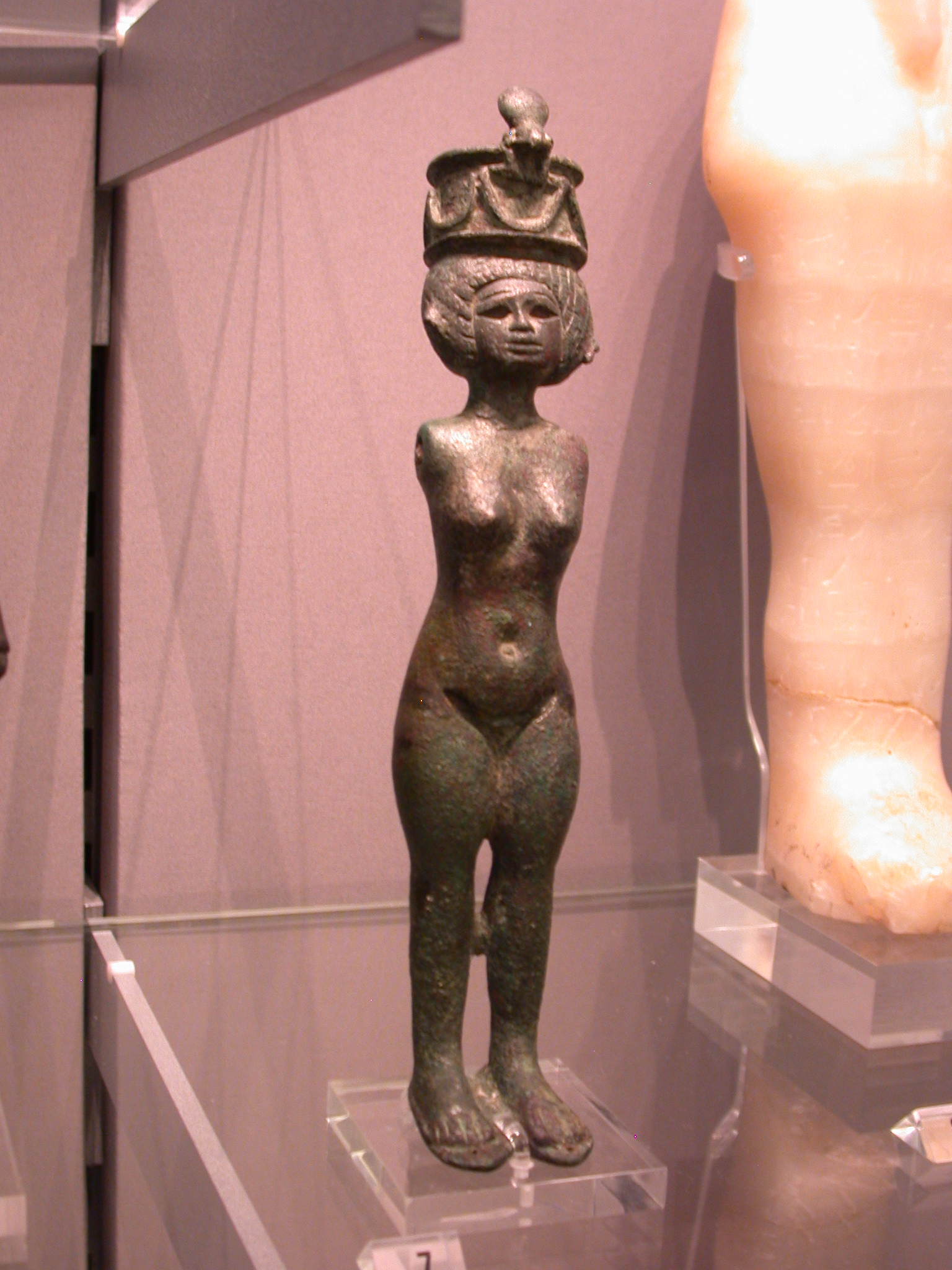 Figurine of Naked Woman With Crown, Probably of Fertility Priestess, 25th Dynasty, 746-664 BCE, Egypt, in Fitzwilliam Museum, Cambridge, England