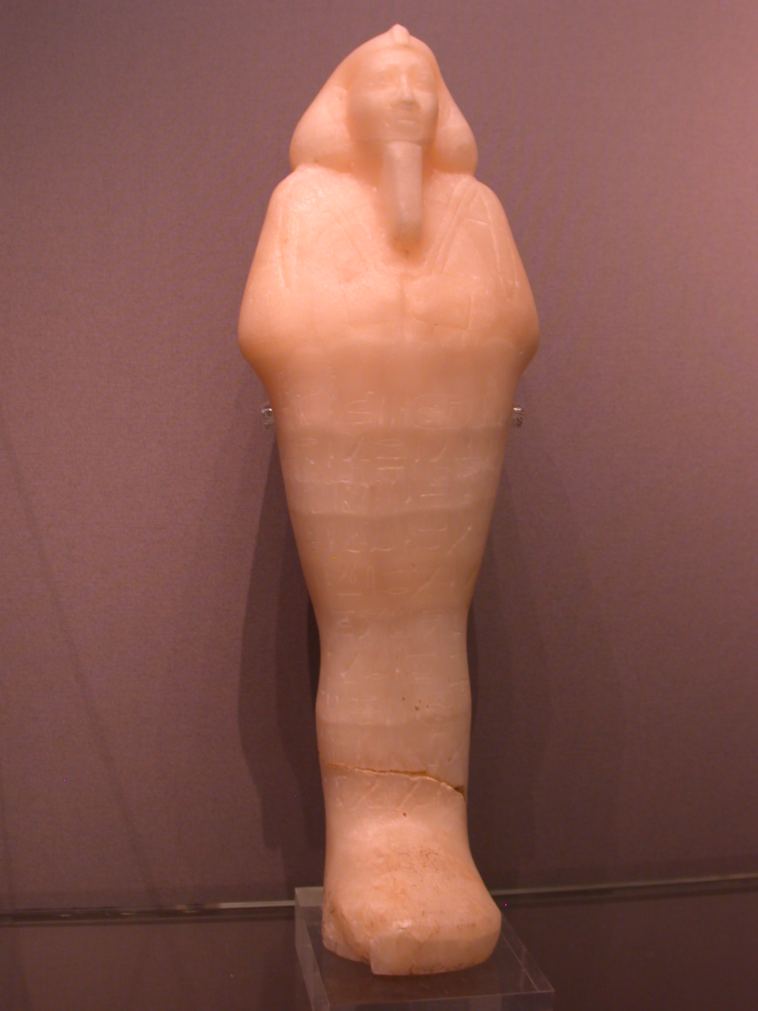 Shabti of Taharqa, Calcite, 25th Dynasty, 690-664 BCE, Egypt, in Fitzwilliam Museum, Cambridge, England