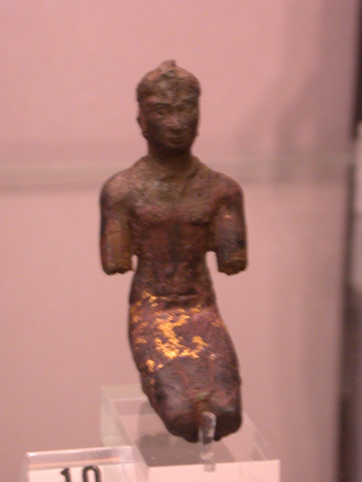 Figurine Probably of Taharqa, Copper Alloy, 25th Dynasty, Probably 690-664 BCE, Egypt, in Fitzwilliam Museum, Cambridge, England