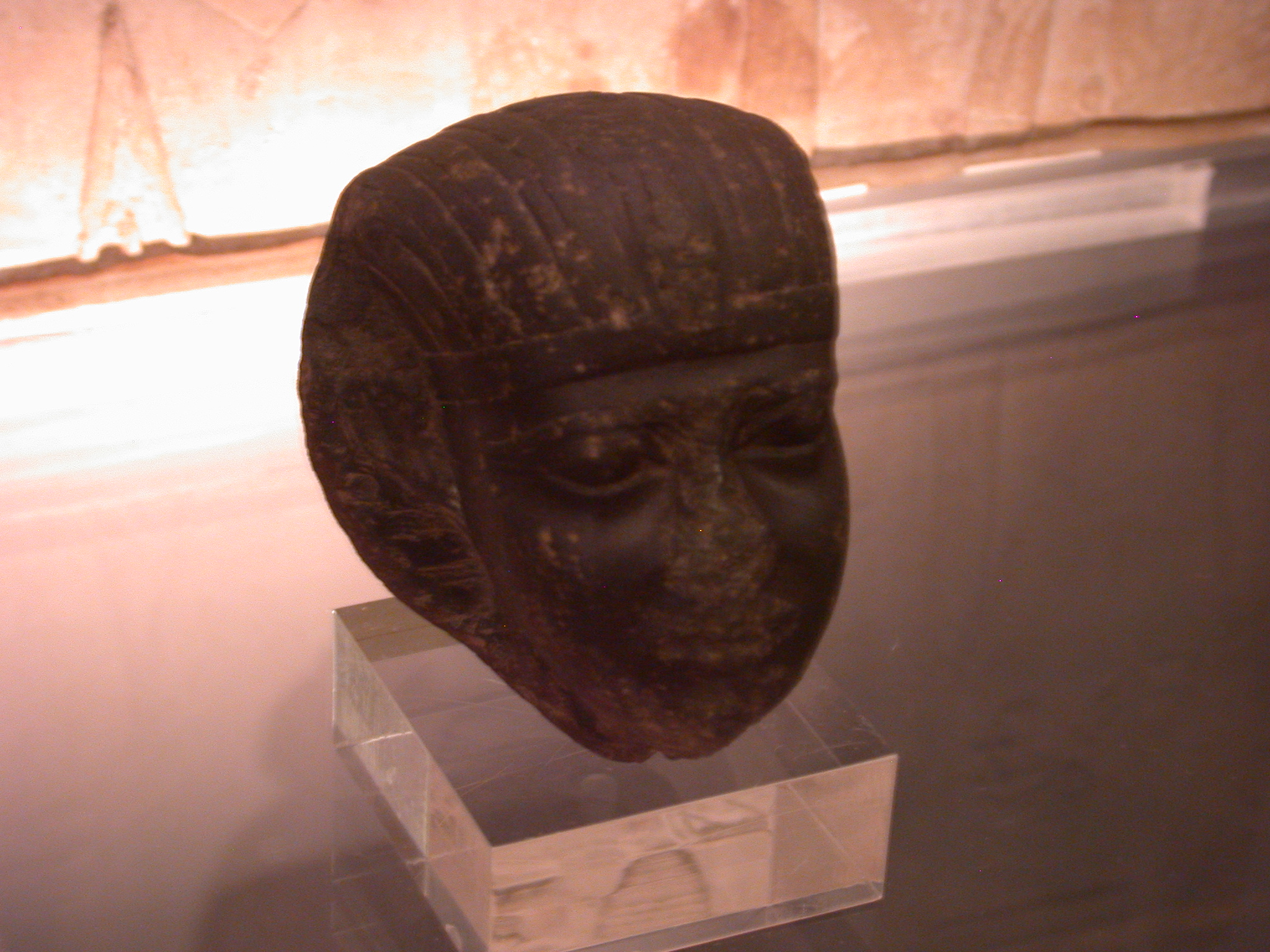 Archaized Portrait of Ruler, Basalt Statue, 25th or 26th Dynasty, 746-525 BCE, Egypt, in Fitzwilliam Museum, Cambridge, England