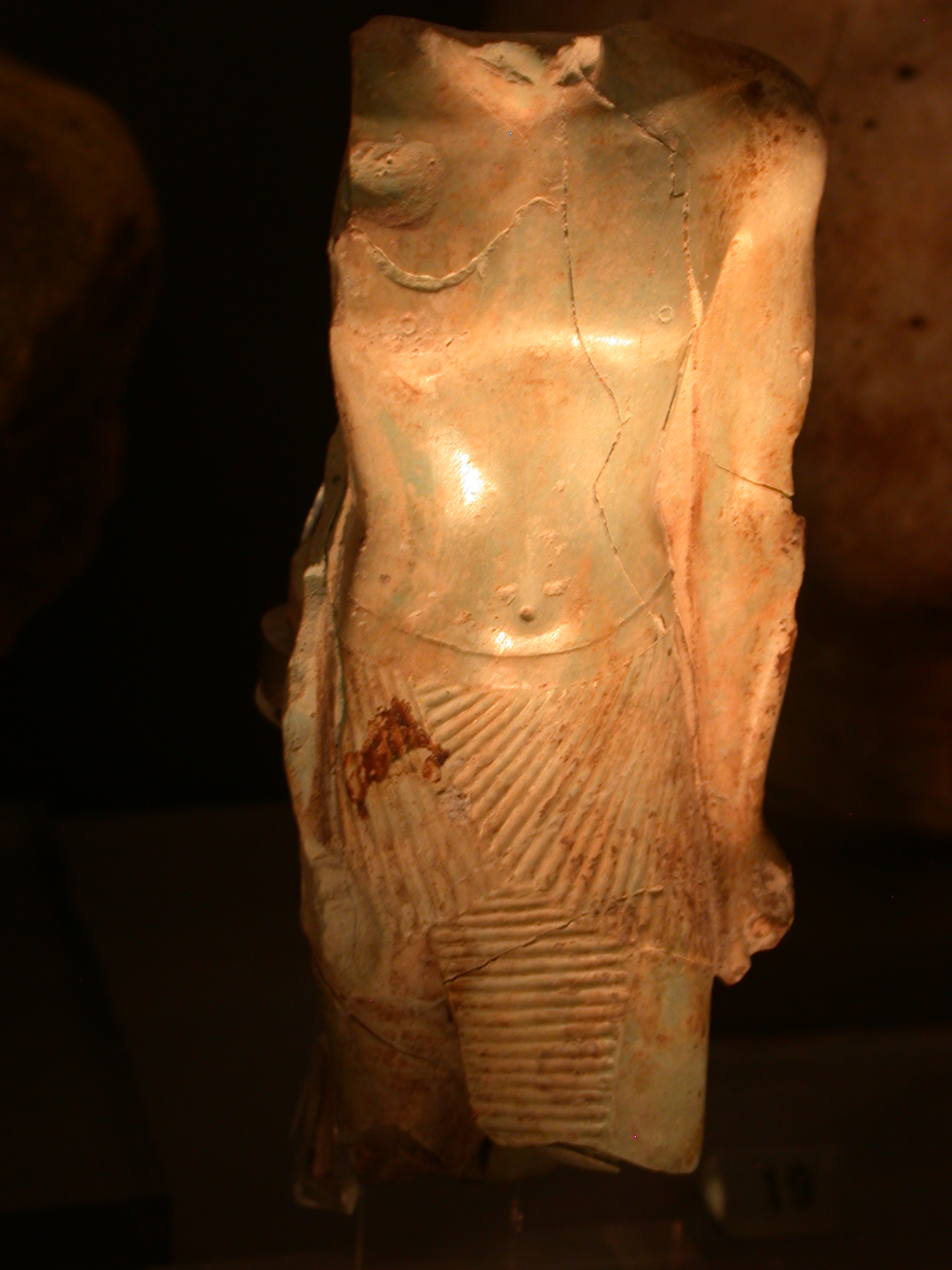 Statuette Inscribed With Name of Sheshonq V, Glassy Frit, 774-736 BCE, Saqqara, Egypt, in Fitzwilliam Museum, Cambridge, England