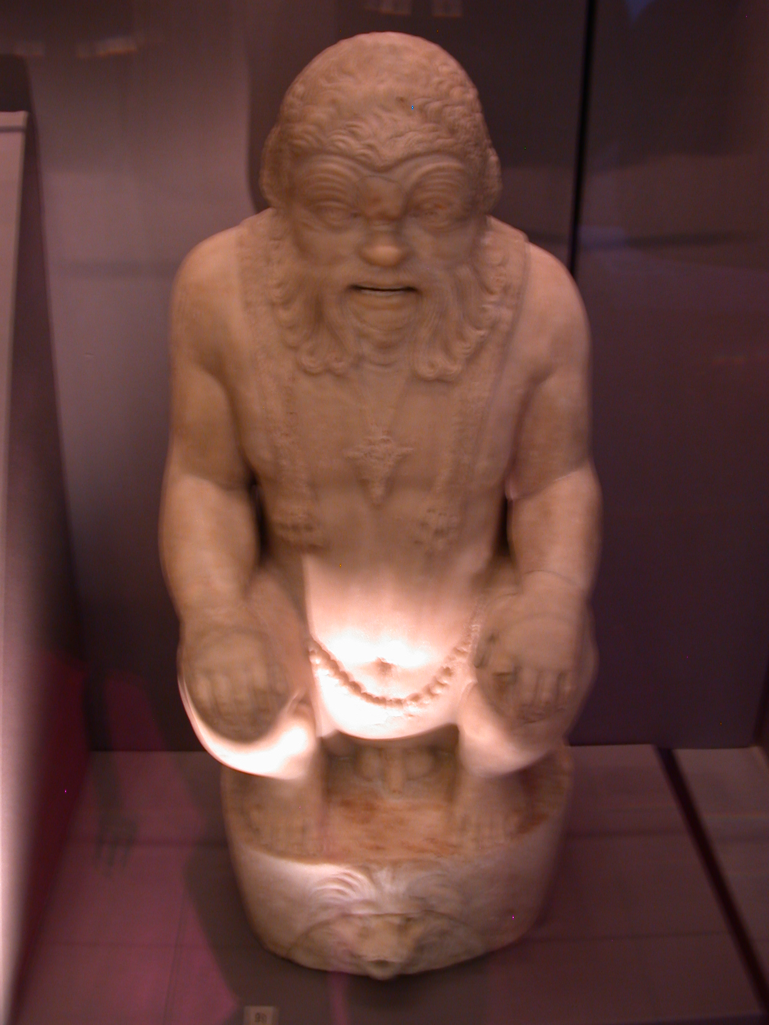 Bes As Fountain, Marble, About 117-250 CE, Rome, in Fitzwilliam Museum, Cambridge, England