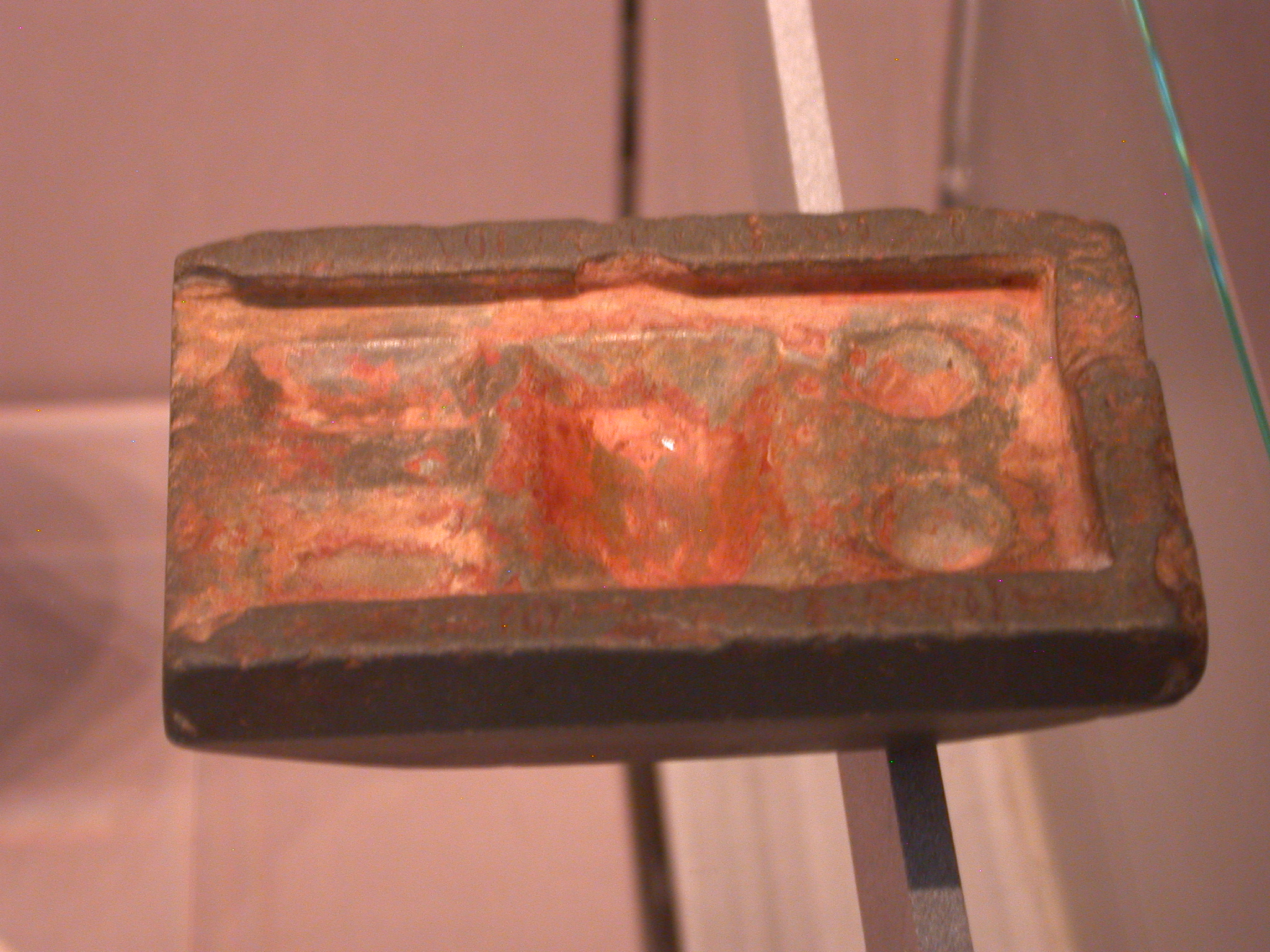 Color Palette Inscribed With Name of Ihy, Overseer of Recruits for the Palace, Slate, 5th Dynasty, 2504-2347 BCE, Egypt, in Fitzwilliam Museum, Cambridge, England