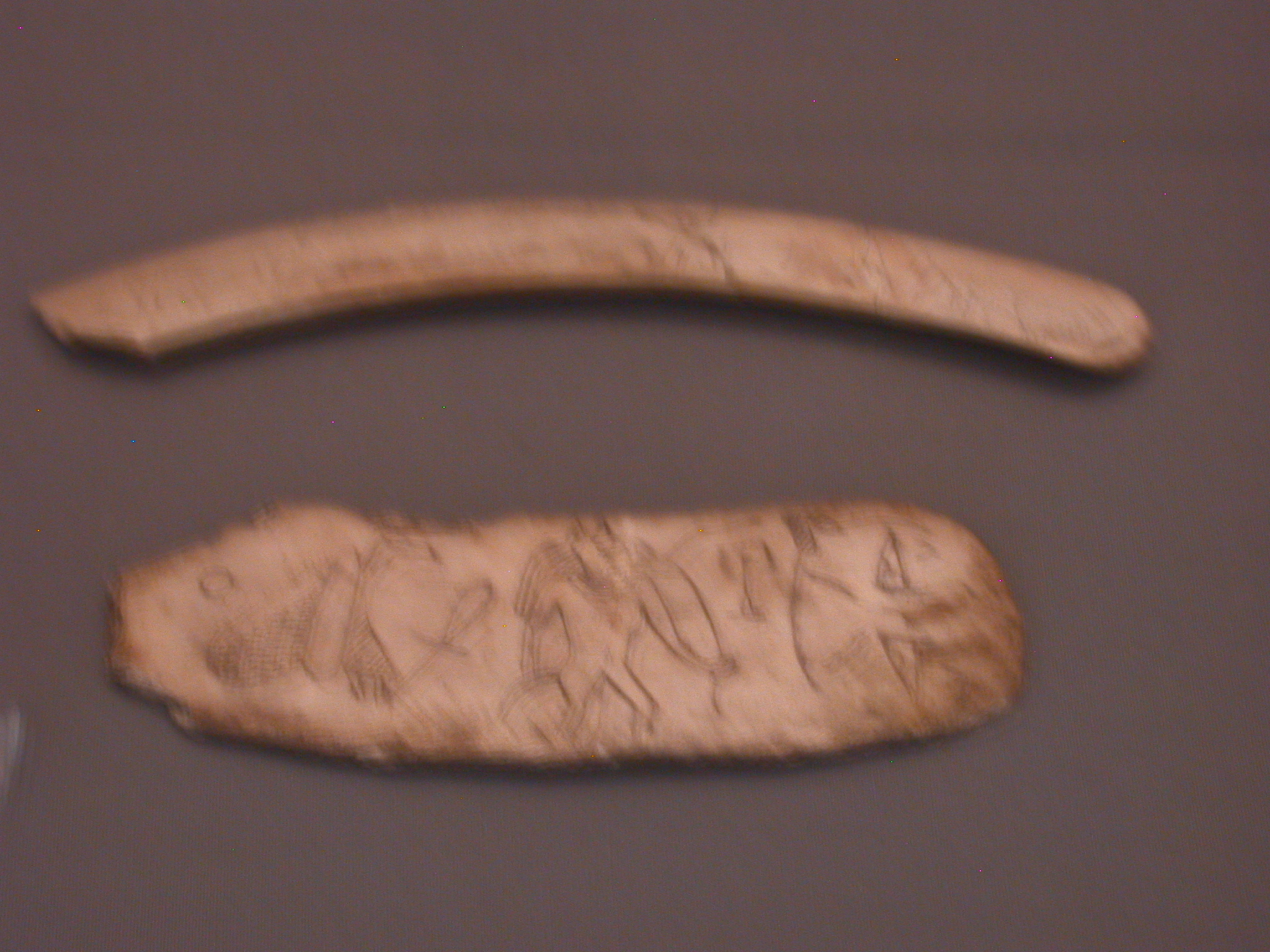 Magic Knives to Offer Protection, Ivory, 13th Dynasty, 1794-1648 BCE, Egypt, in Fitzwilliam Museum, Cambridge, England
