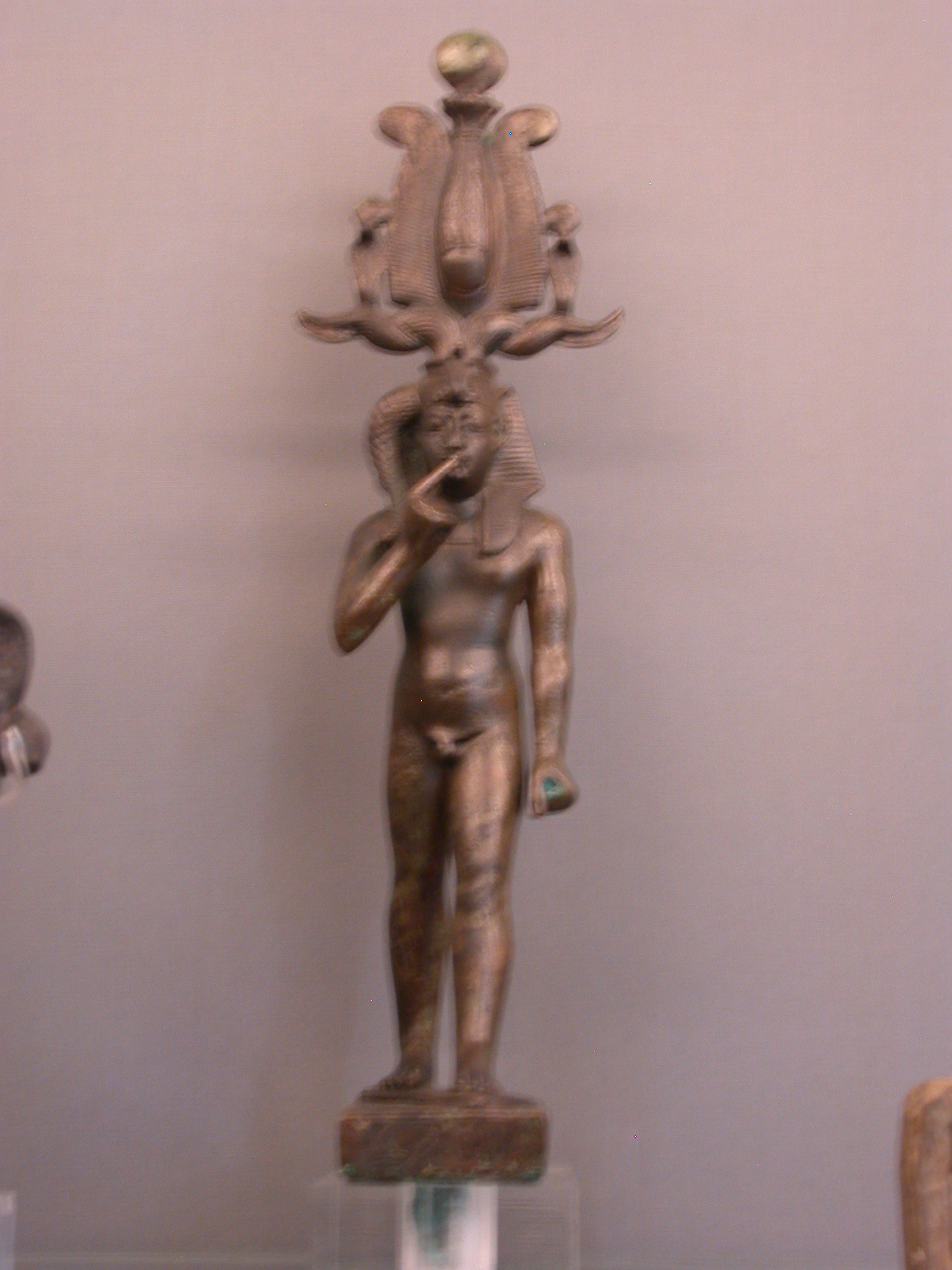 Horus Standing on Oryx, Dedicated by a Priest of Amun, About 200-100 BCE, Egypt, in Fitzwilliam Museum, Cambridge, England