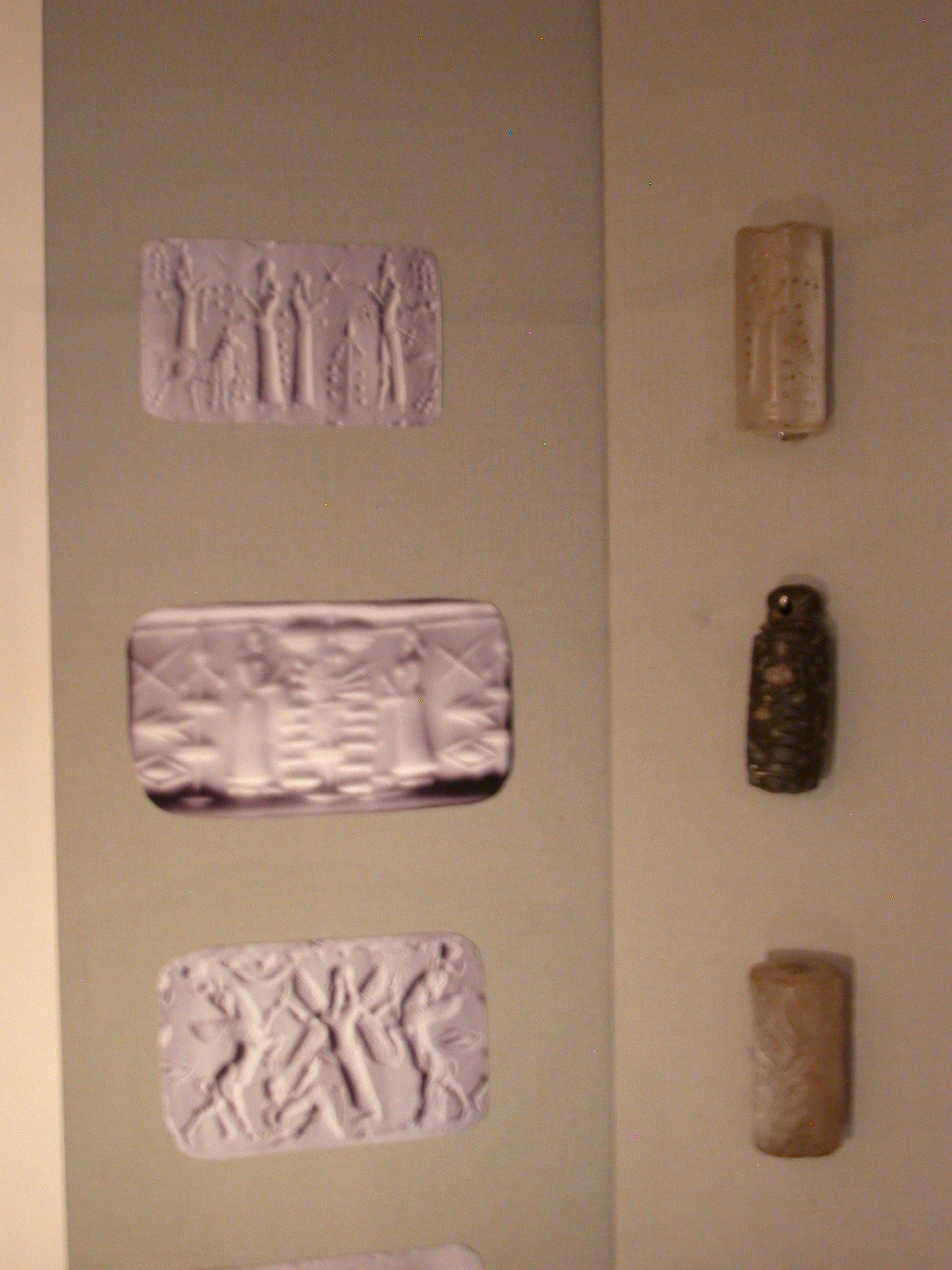 Neo-Assyrian Cylinder Seals, About 950-600 BCE, in Fitzwilliam Museum, Cambridge, England