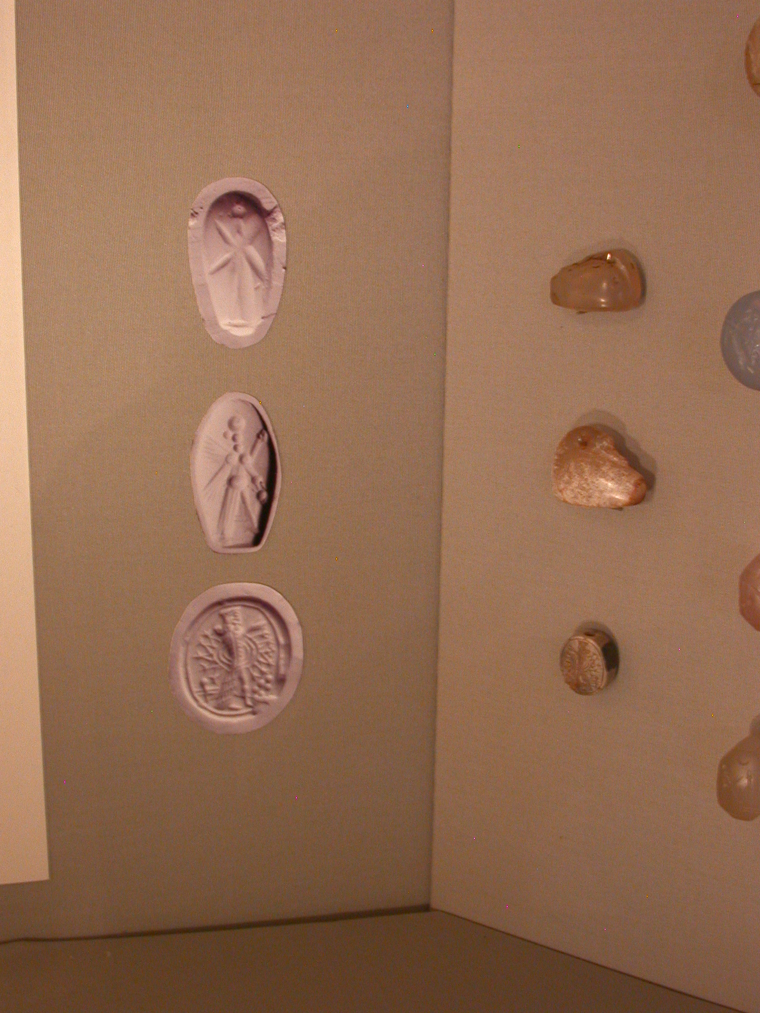 Neo-Assyrian Stamp Seals, About 950-600 BCE, in Fitzwilliam Museum, Cambridge, England