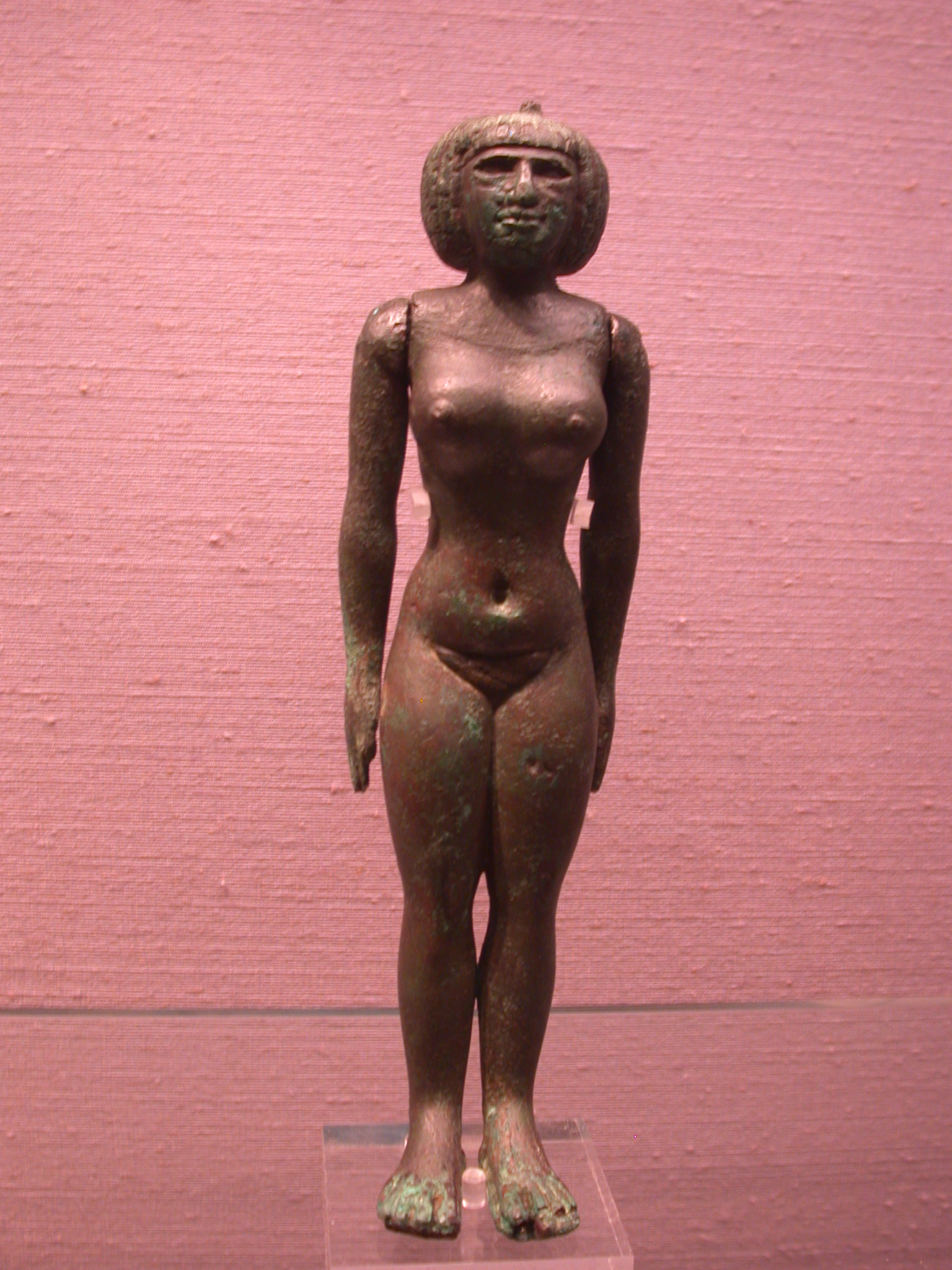 Nubian Fertility Figurine With Short Wig, Copper Alloy, 25th Dynasty, 746-664 BCE, Egypt, in Fitzwilliam Museum, Cambridge, England