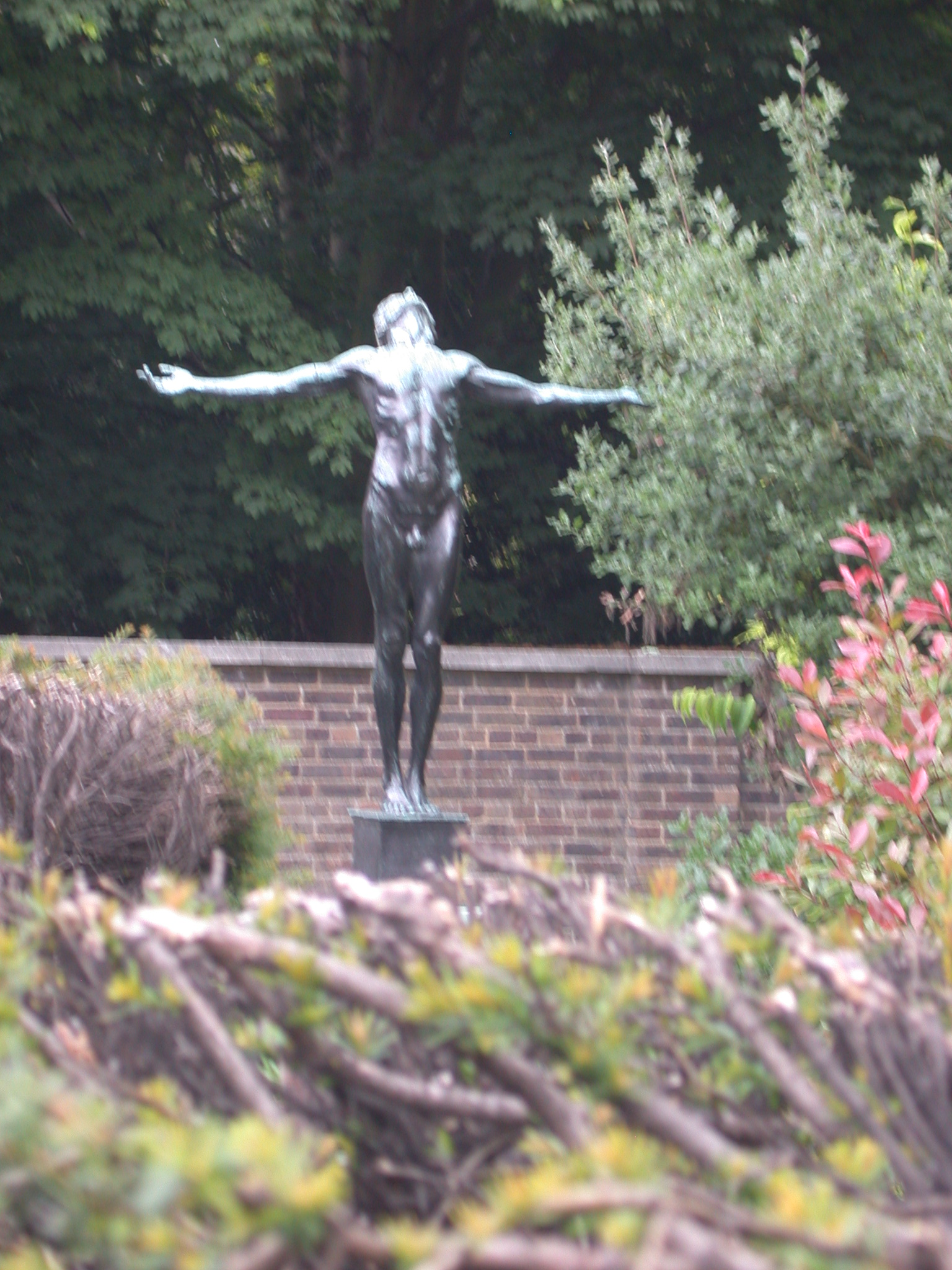 Statue of Nude Young Man, Scott Polar Research Institute, Cambridge, England