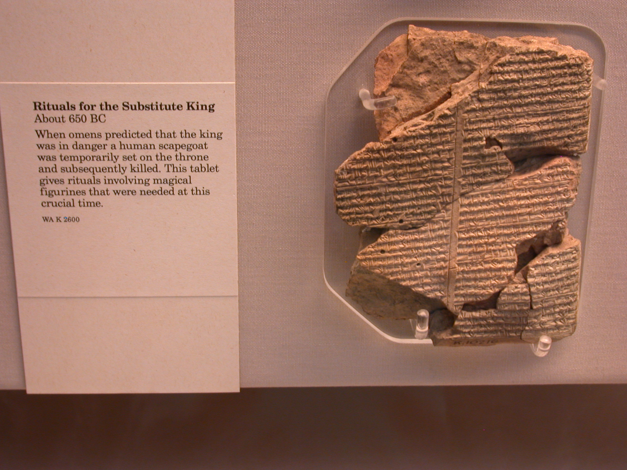 Rituals for the Substitute King, Cuneiform Tablet, About 650 BCE, Asssyria, in British Museum, London, England