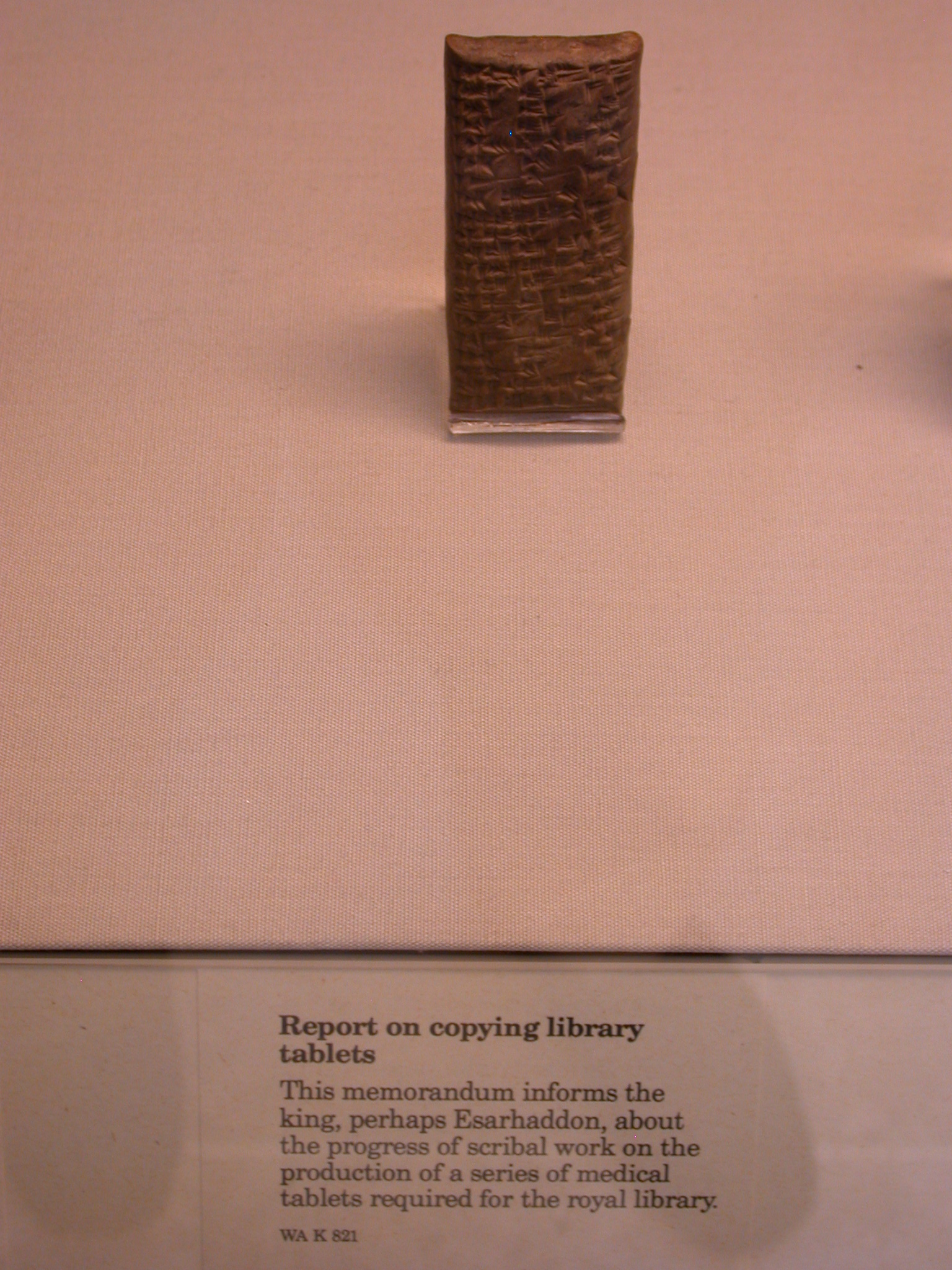 Report on Copying Library Tablets for Medical Library, Cuneiform Tablet, Assyria, in British Museum, London, England