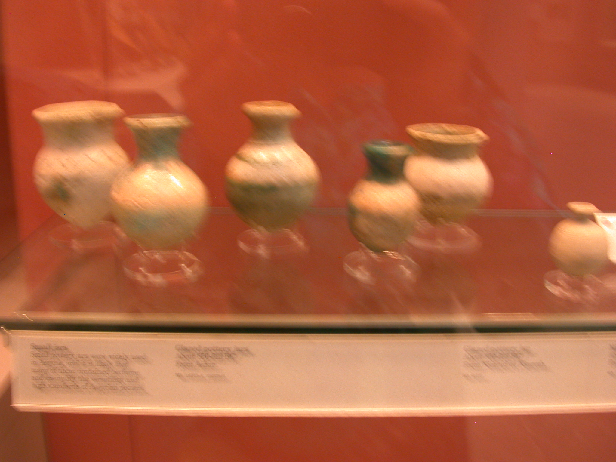 Glazed Pottery Jars, Nimrud or Nineveh, Assyria, in British Museum, London, England