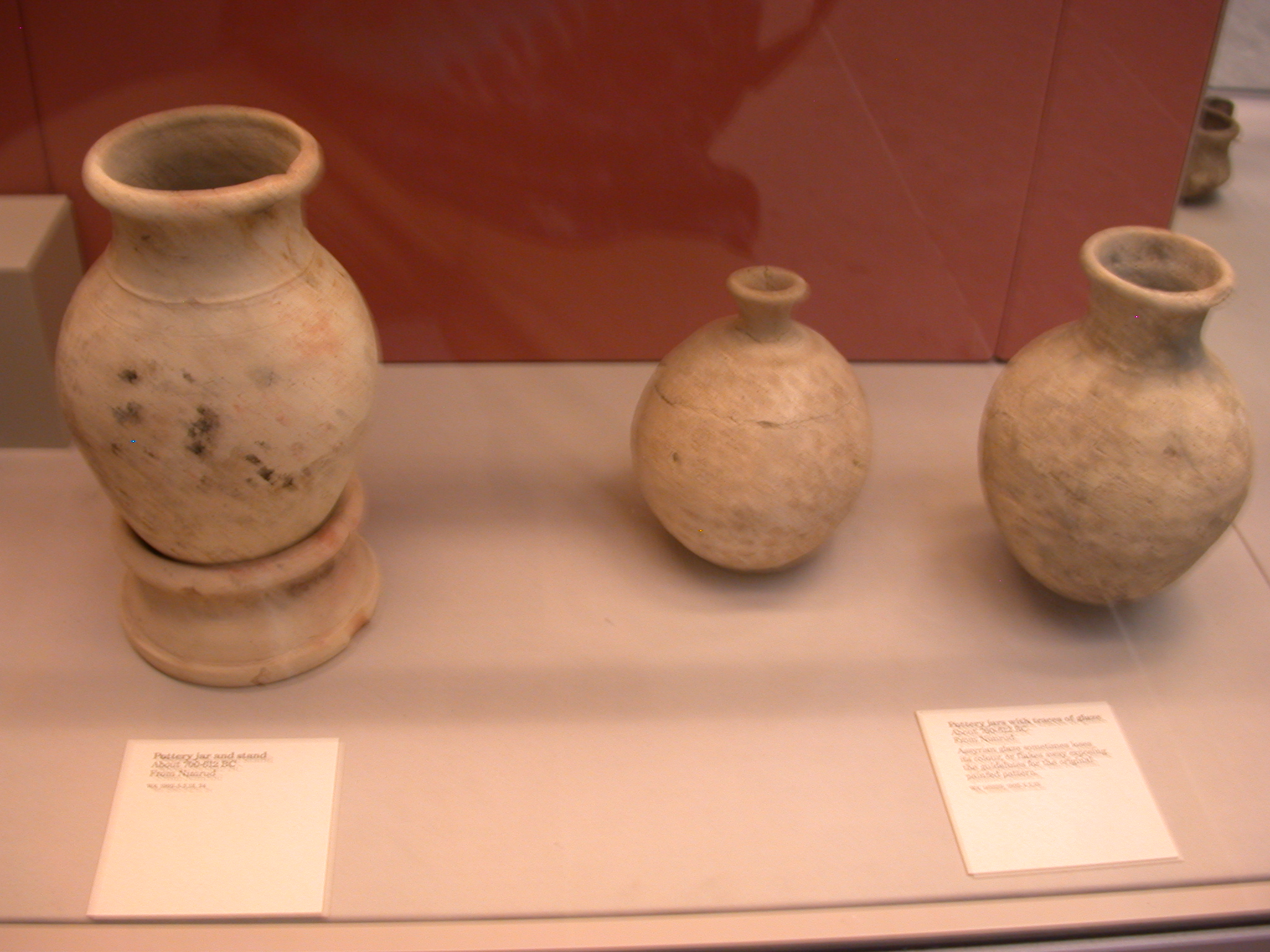 Pottery Jars and Stand, About 700-612 BCE, Nimrud, Assyria, in British Museum, London, England